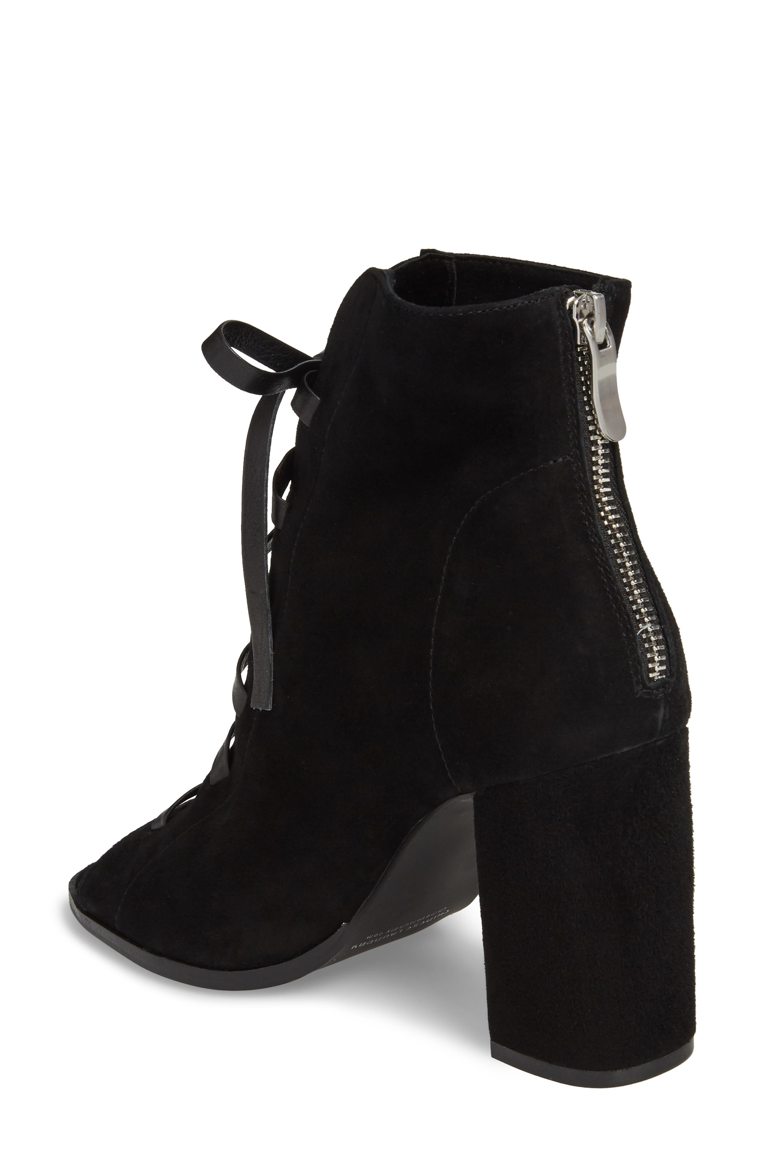 Layton Lace-Up Boot,                             Alternate thumbnail 2, color,                             BLACK SUEDE
