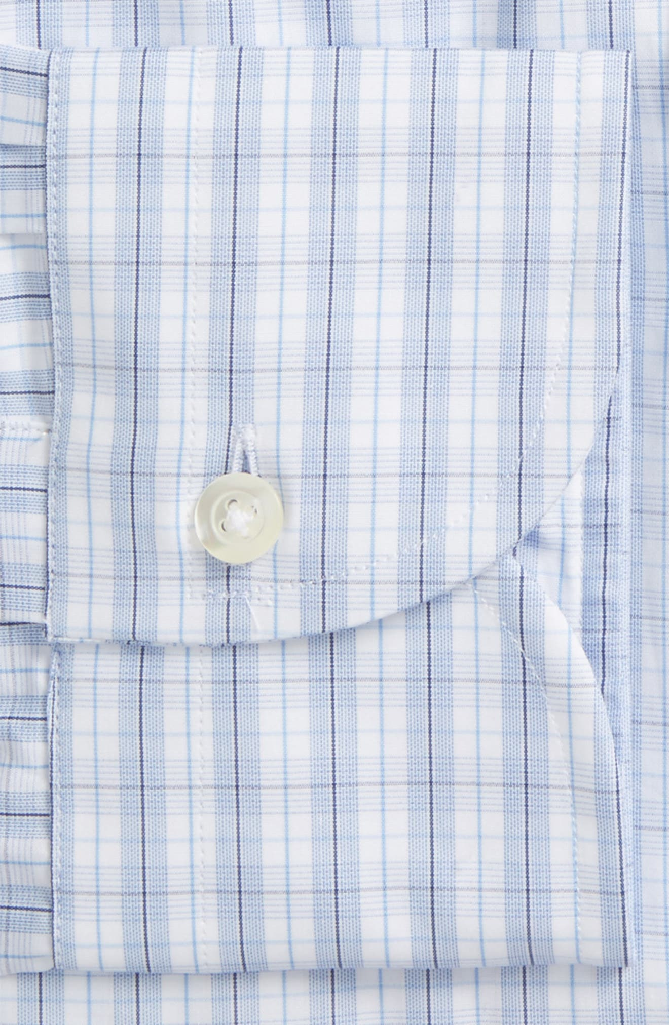 Slim Fit Plaid Dress Shirt,                             Alternate thumbnail 2, color,                             450