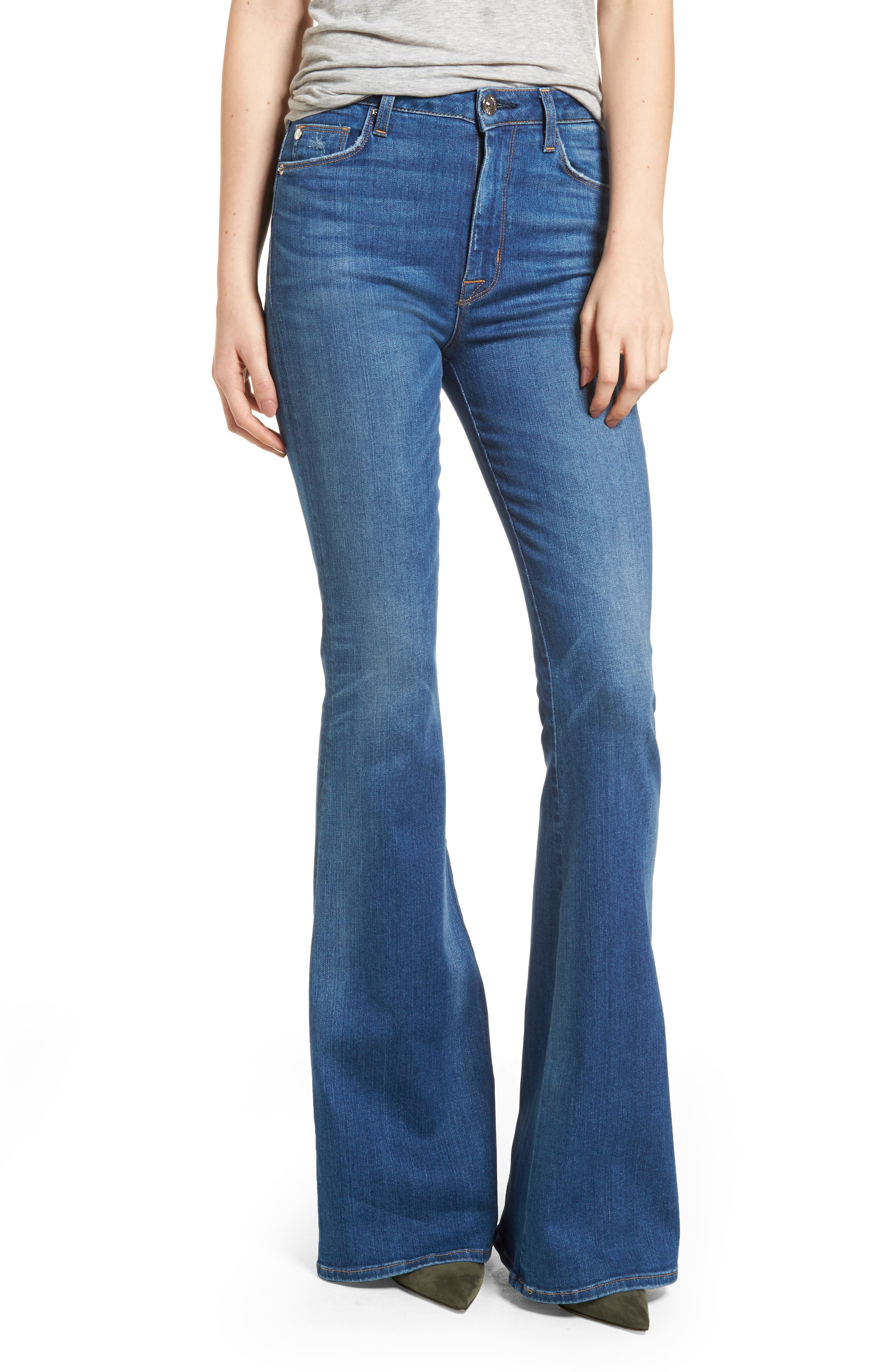 Holly High Waist Flare Jeans,                             Main thumbnail 1, color,                             401