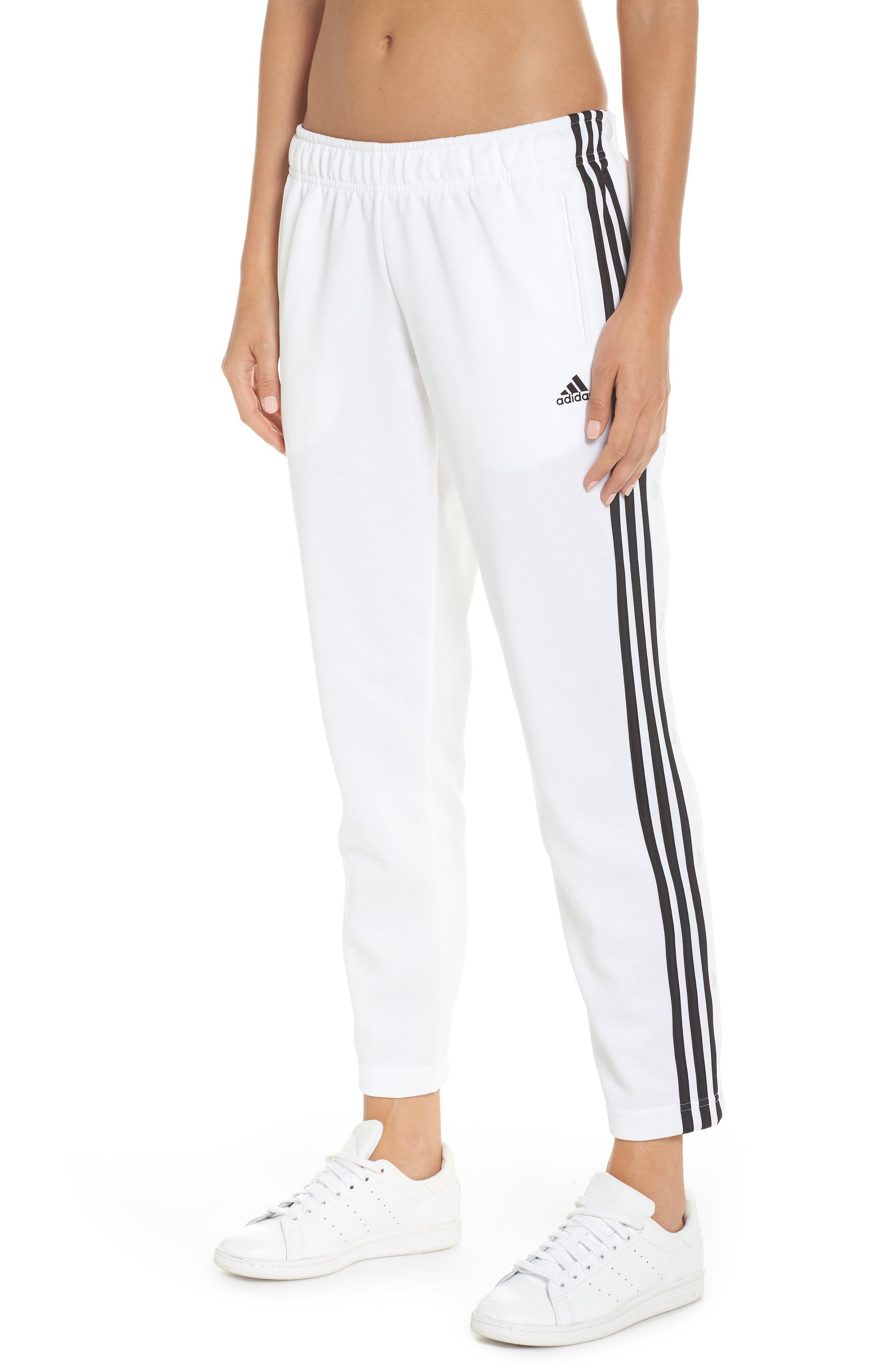 Tricot Snap Pants,                         Main,                         color, WHITE/ BLACK/ BLACK