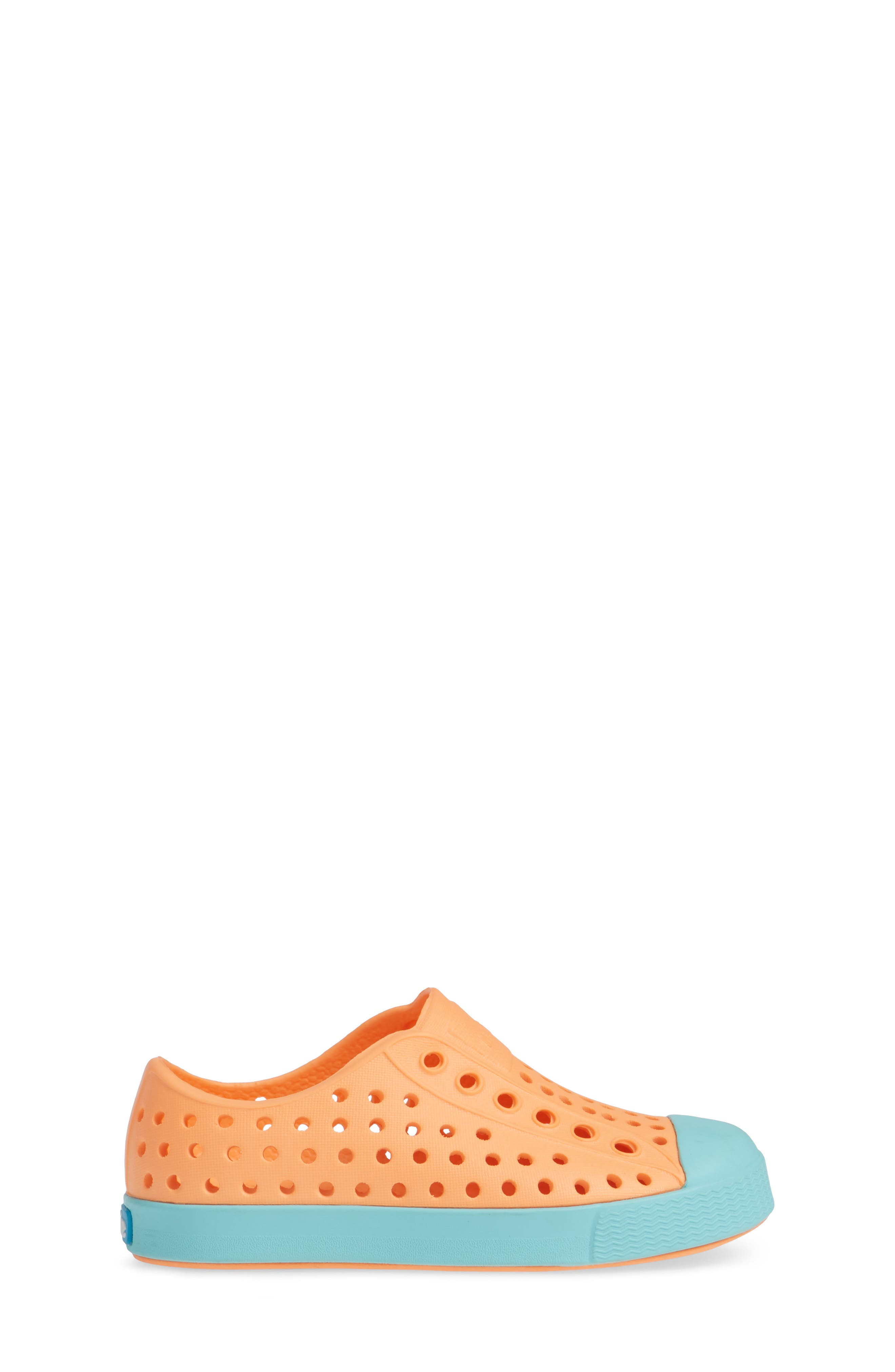 'Jefferson' Water Friendly Slip-On Sneaker,                             Alternate thumbnail 3, color,                             LASER ORANGE/ SHERBET BLUE