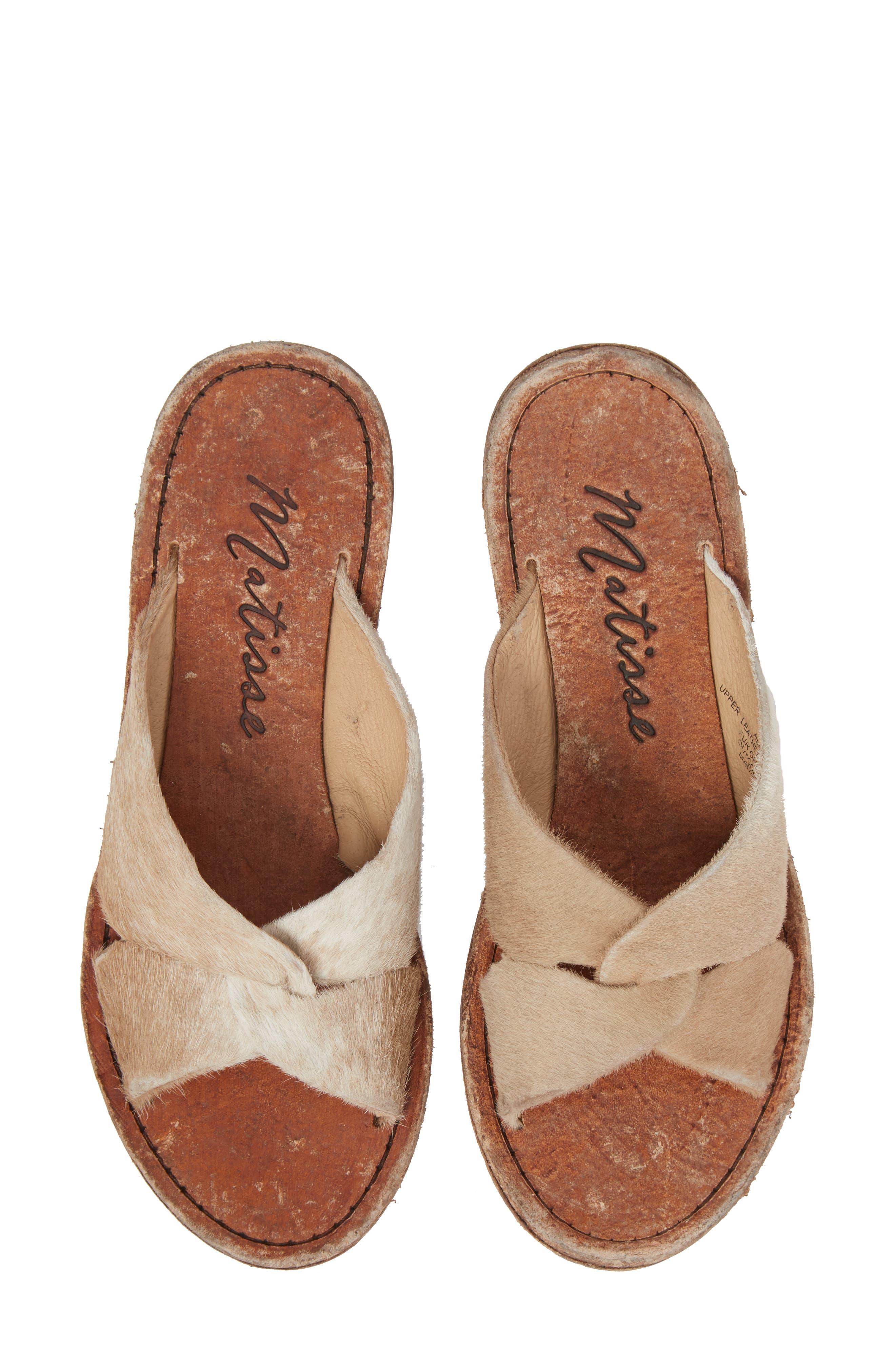 Matisse Alamosa Genuine Calf Hair Sandal, Brown