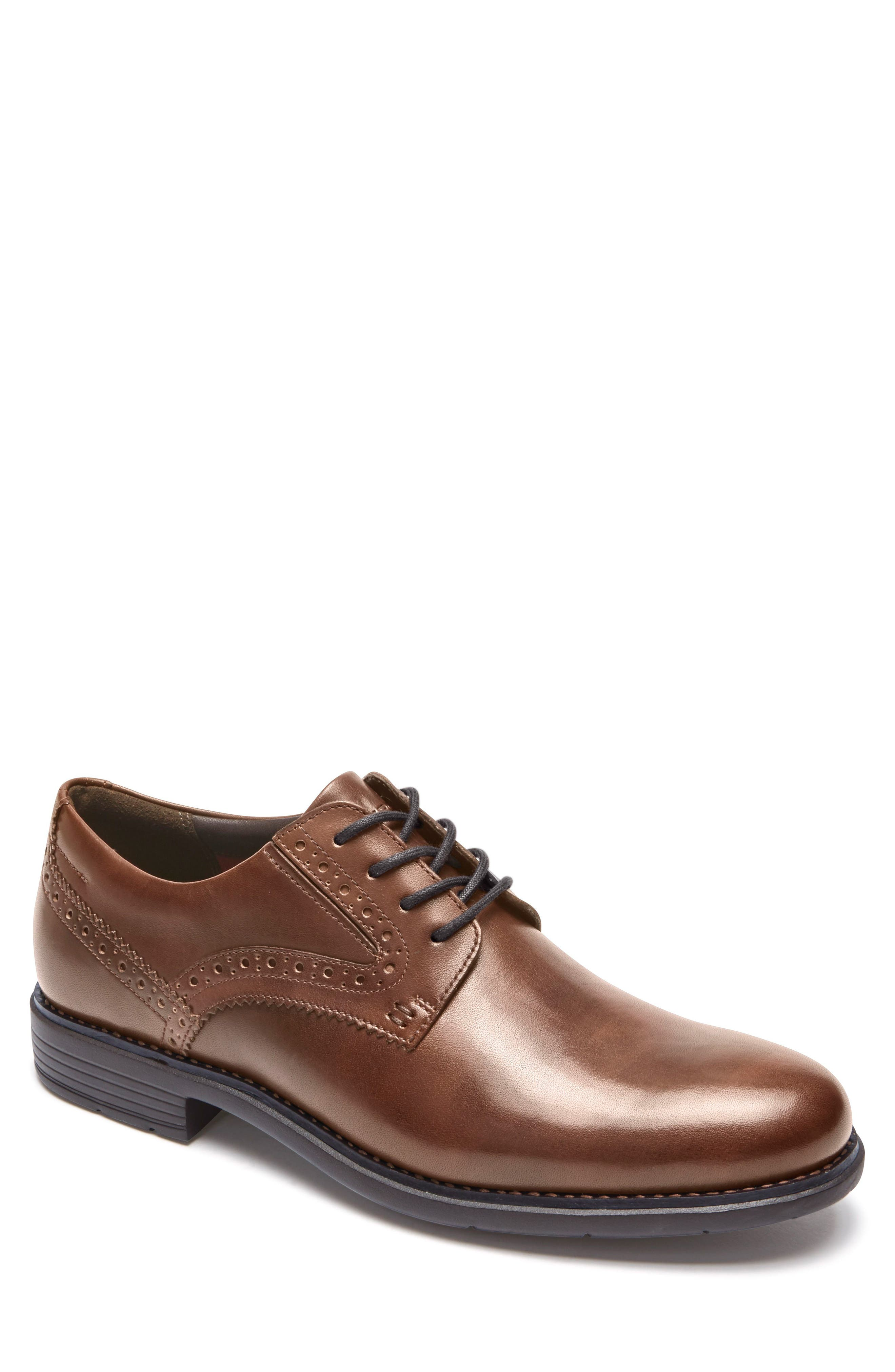 Total Motion Classic Plain Toe Derby,                             Main thumbnail 1, color,                             NEW BROWN LEATHER