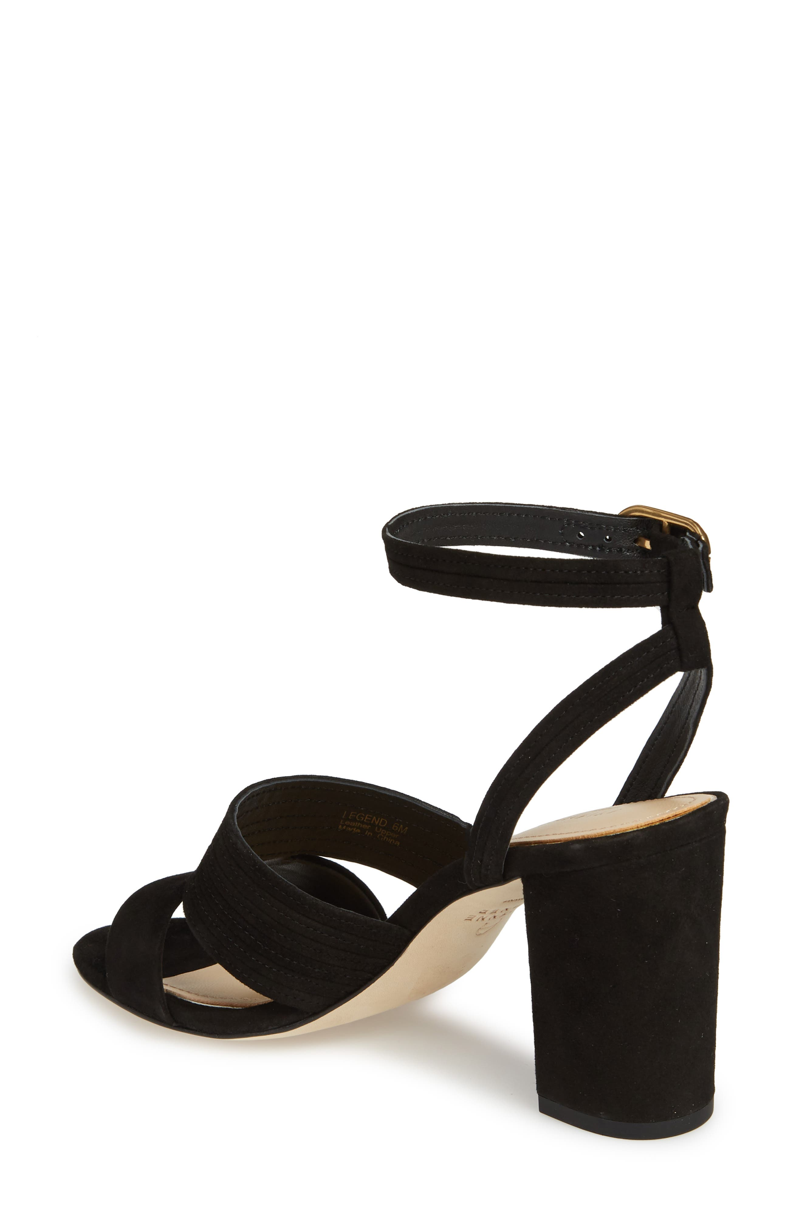 Legend Ankle Strap Sandal,                             Alternate thumbnail 2, color,                             BLACK SUEDE