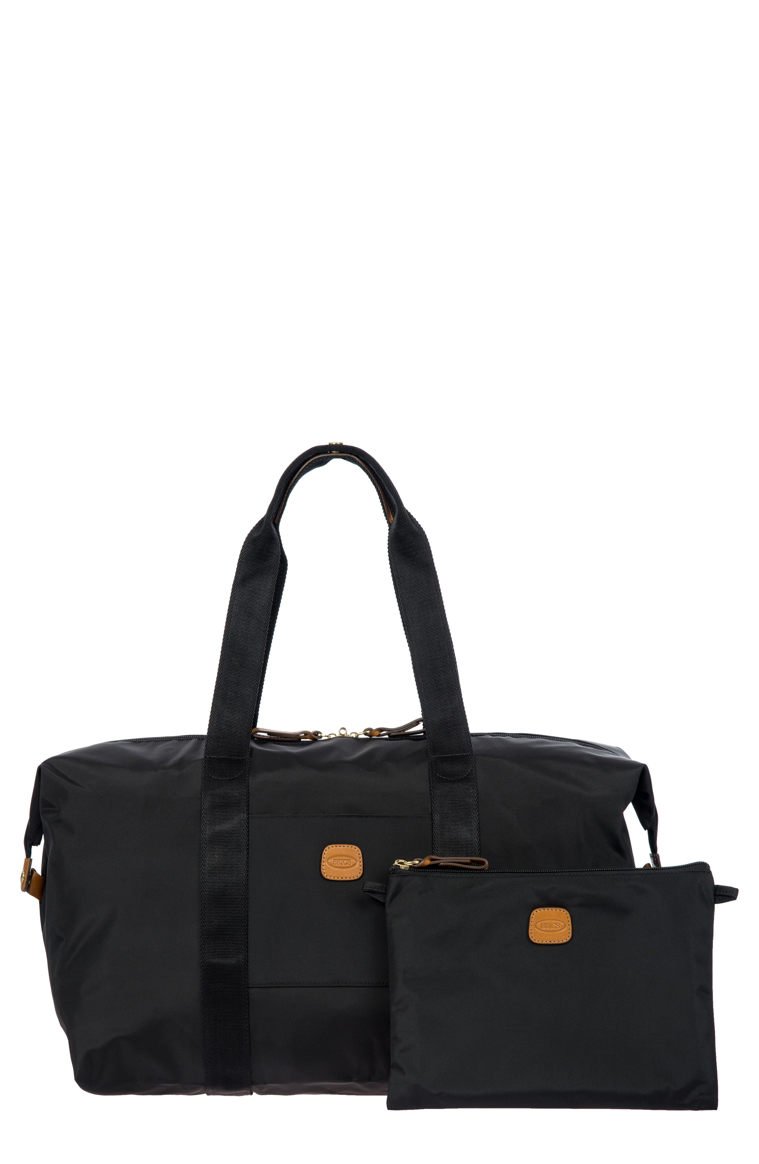 X-Bag 18-Inch Folding Duffel Bag,                             Main thumbnail 1, color,                             BLACK