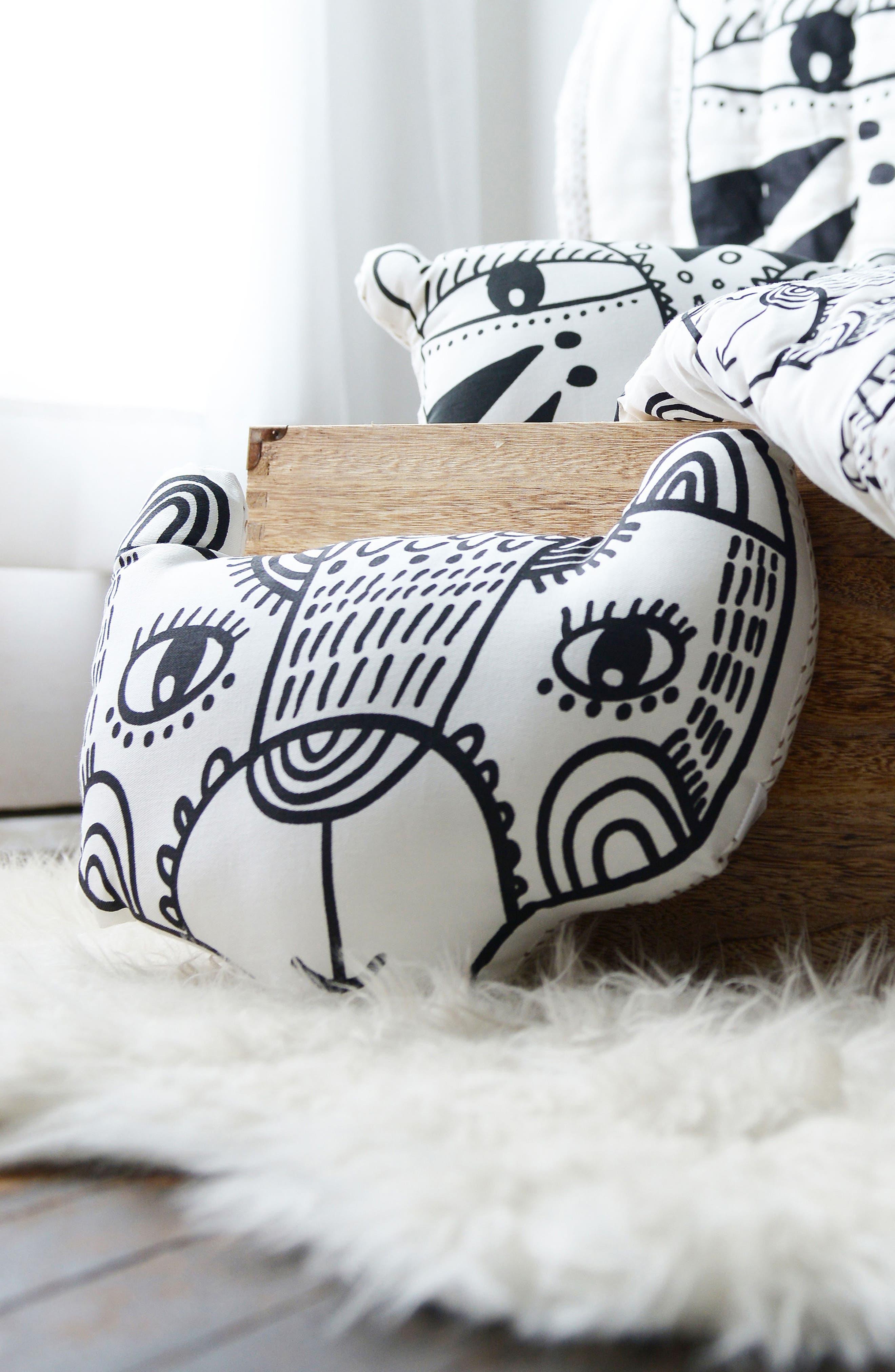 Bear Accent Pillow,                             Alternate thumbnail 3, color,                             001