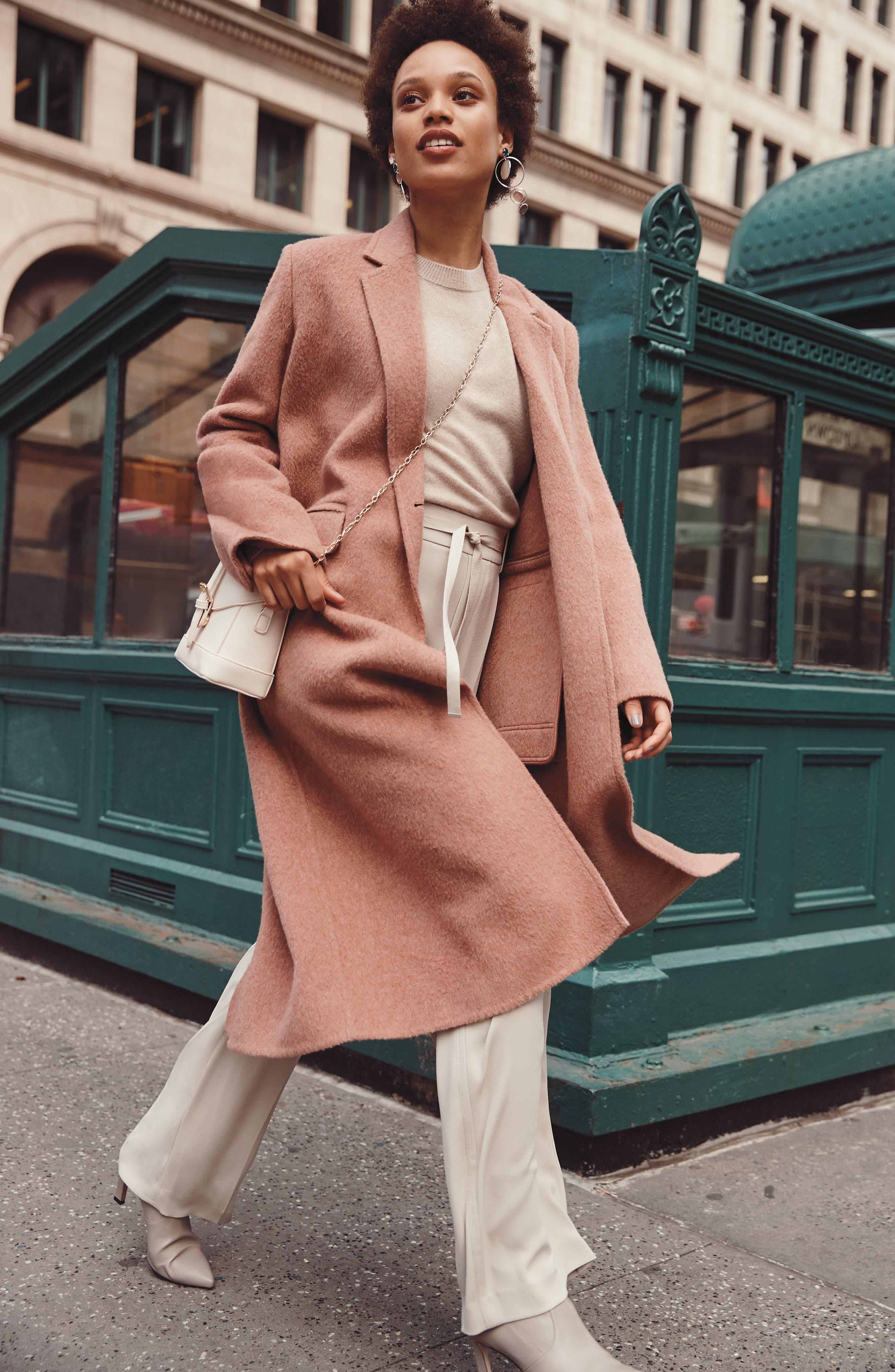 VINCE,                             Long Wool Alpaca Blend Coat,                             Alternate thumbnail 9, color,                             341