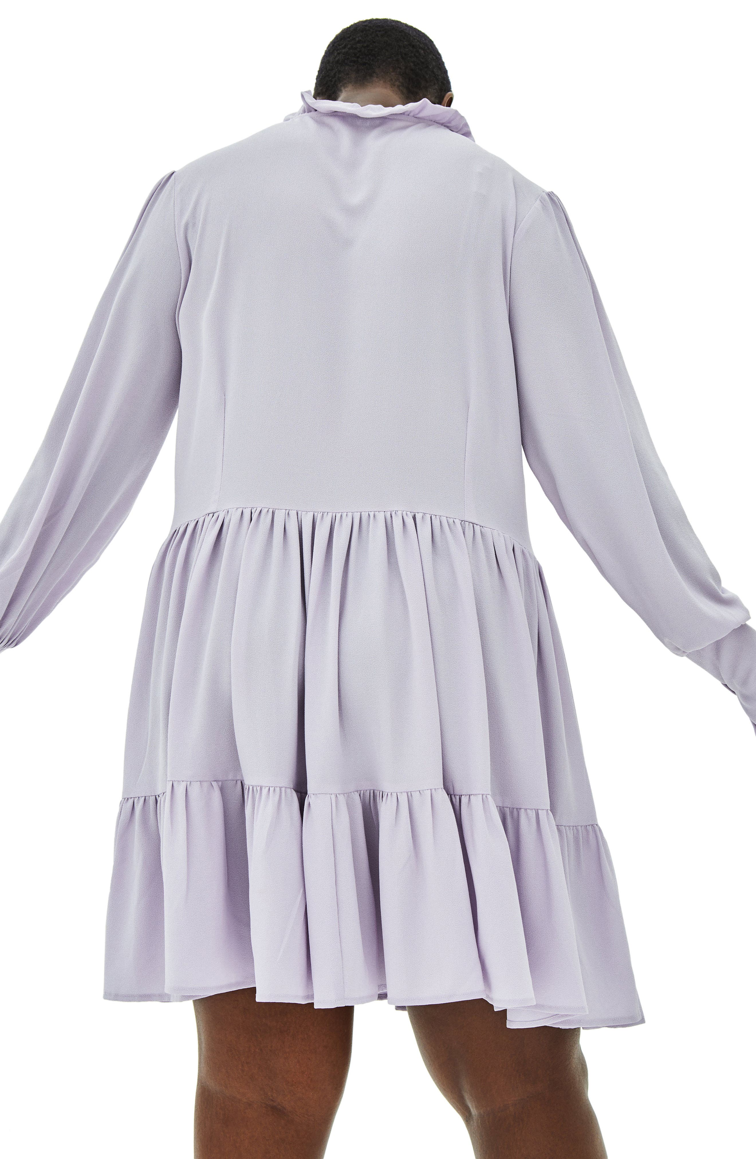 The Poe Rouleau Sleeve Tiered Dress,                             Alternate thumbnail 2, color,