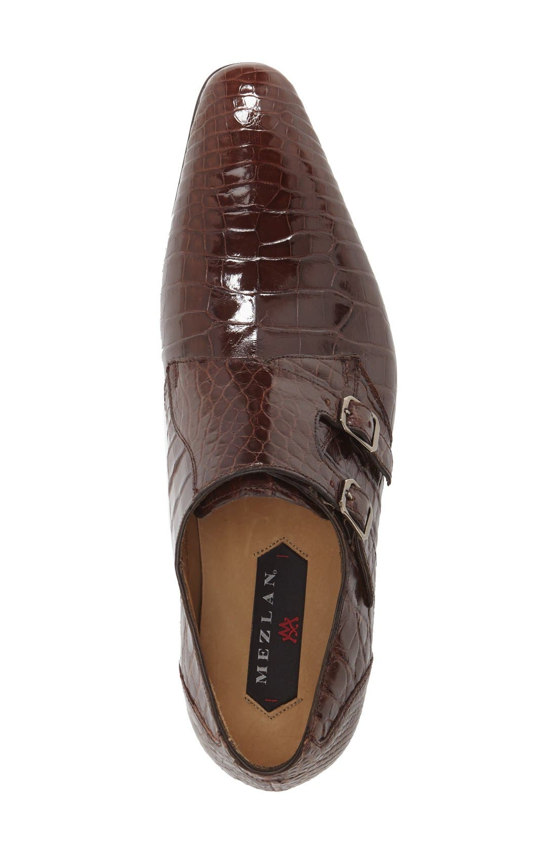 'Agra' Double Monk Strap Shoe,                             Alternate thumbnail 6, color,