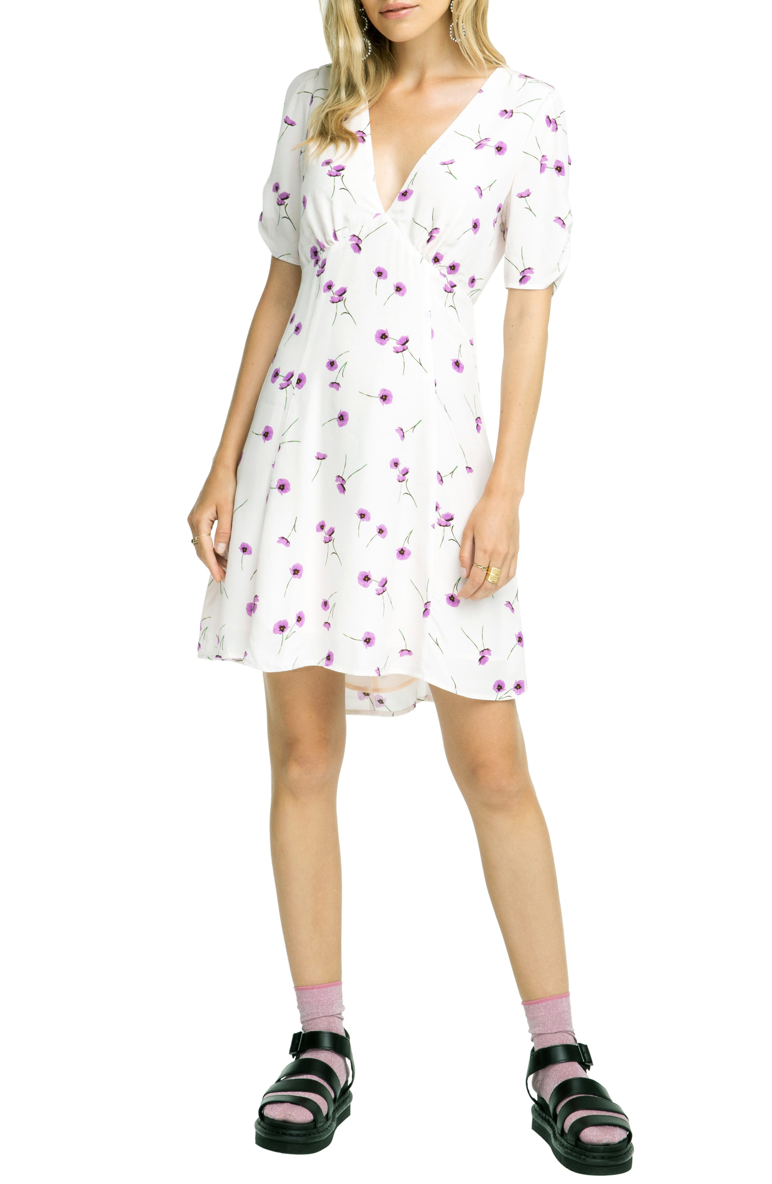 Astr The Label Kyle Dress, Purple