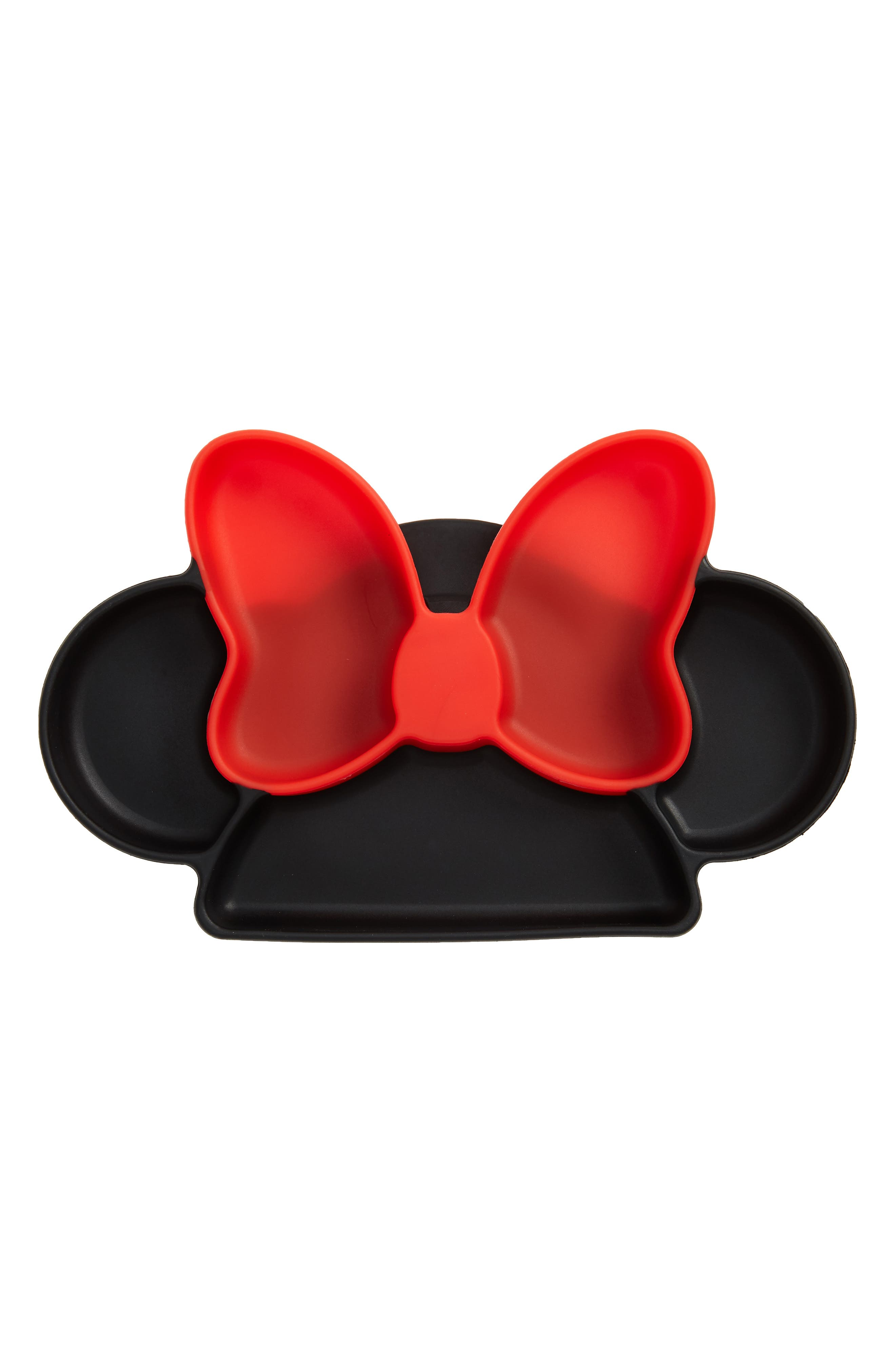 Minnie Mouse<sup>®</sup> Silicone Grip Dish,                             Main thumbnail 1, color,                             BLACK