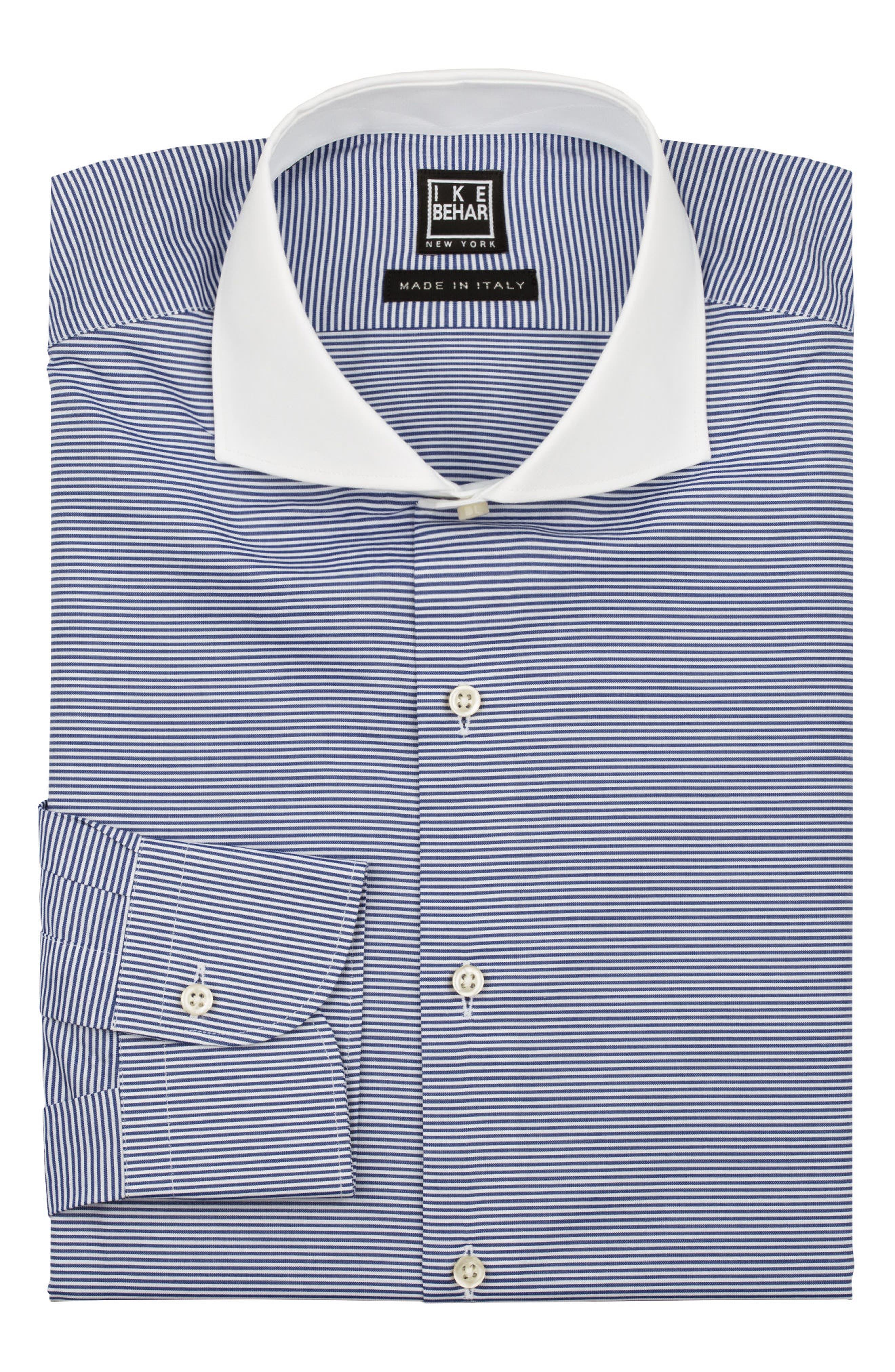 Regular Fit Stripe Dress Shirt,                             Alternate thumbnail 5, color,                             400