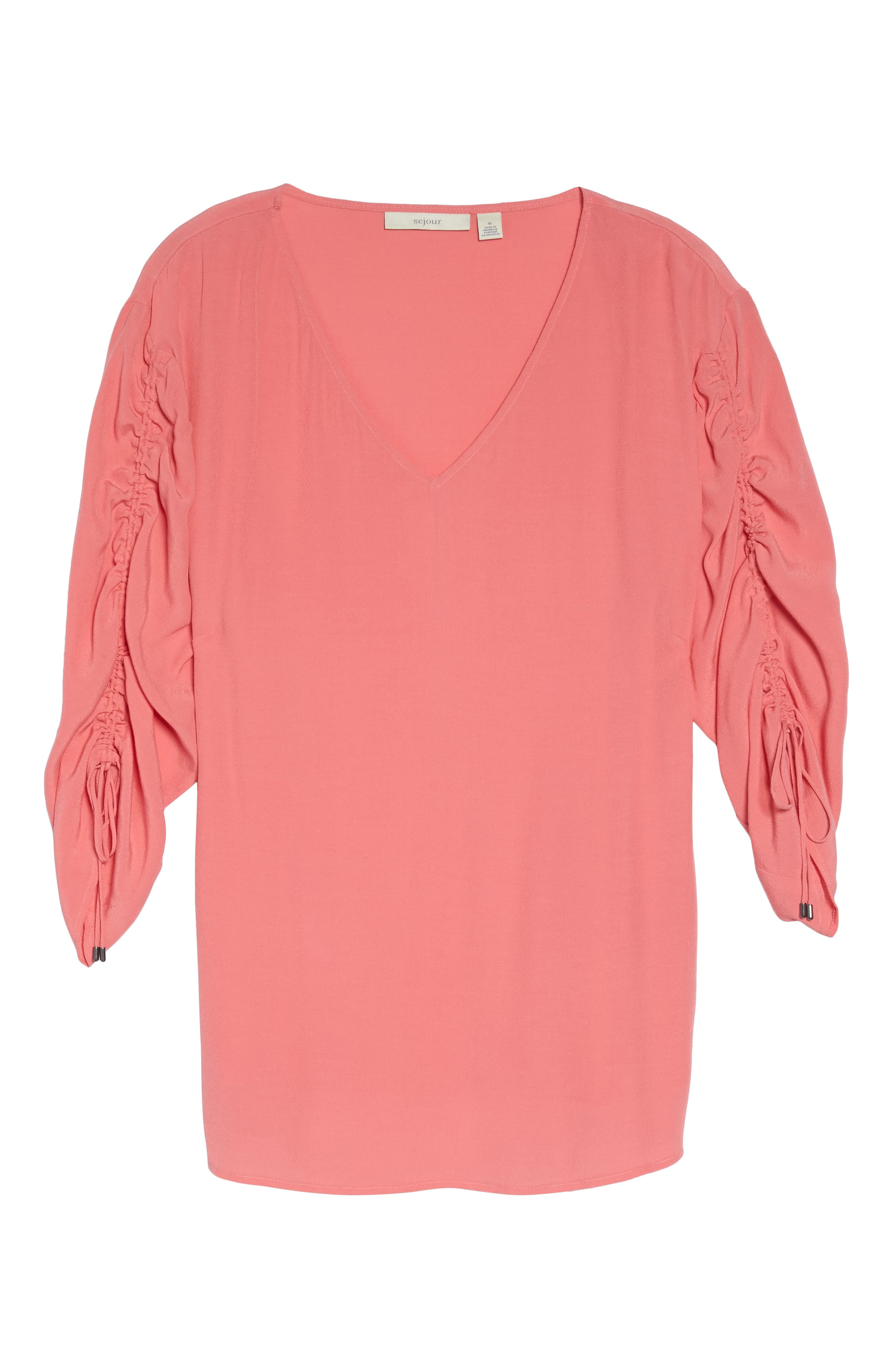 Cinched Sleeve Top,                             Alternate thumbnail 18, color,