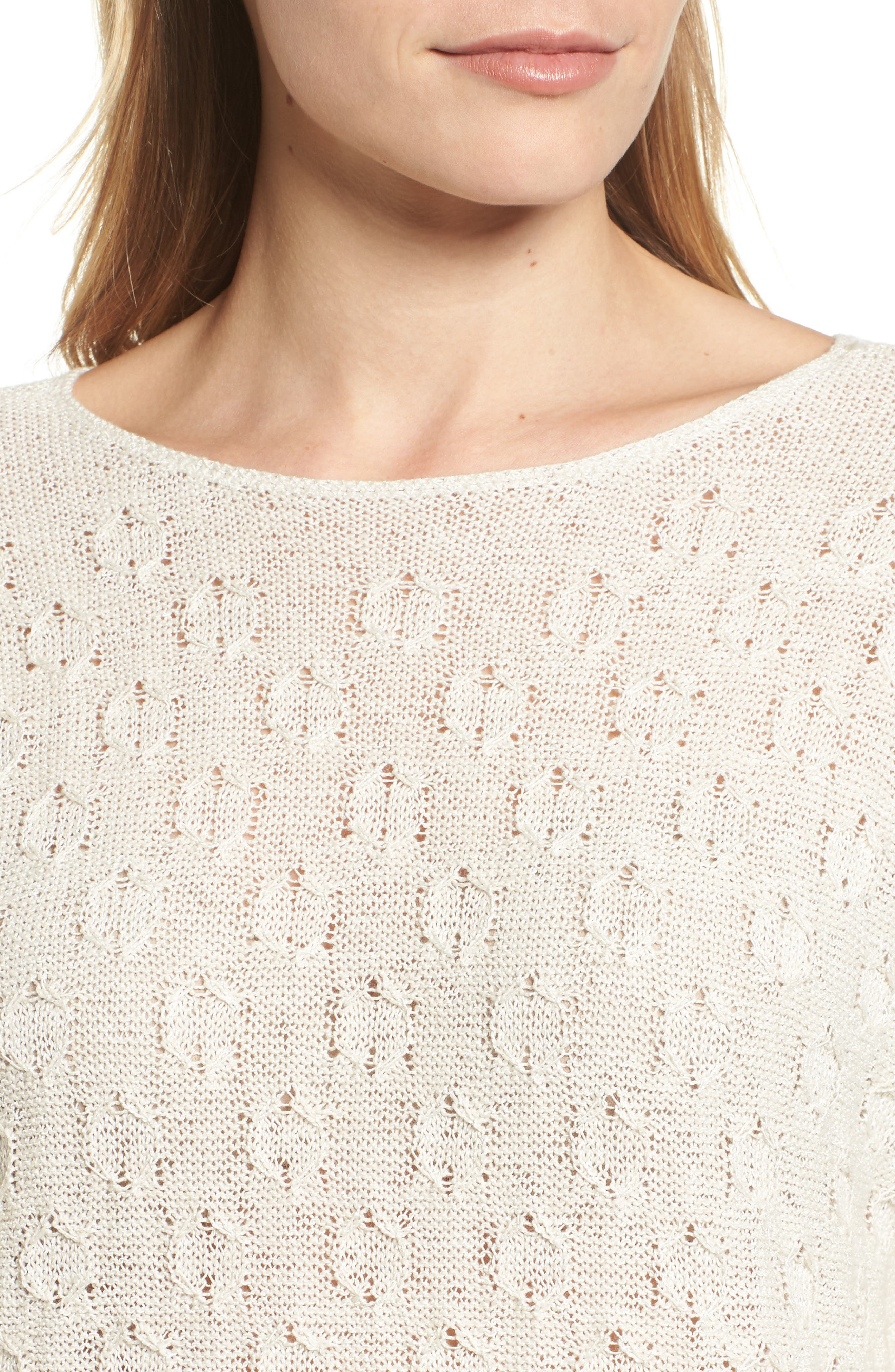 Stitched Dot Top,                             Alternate thumbnail 4, color,