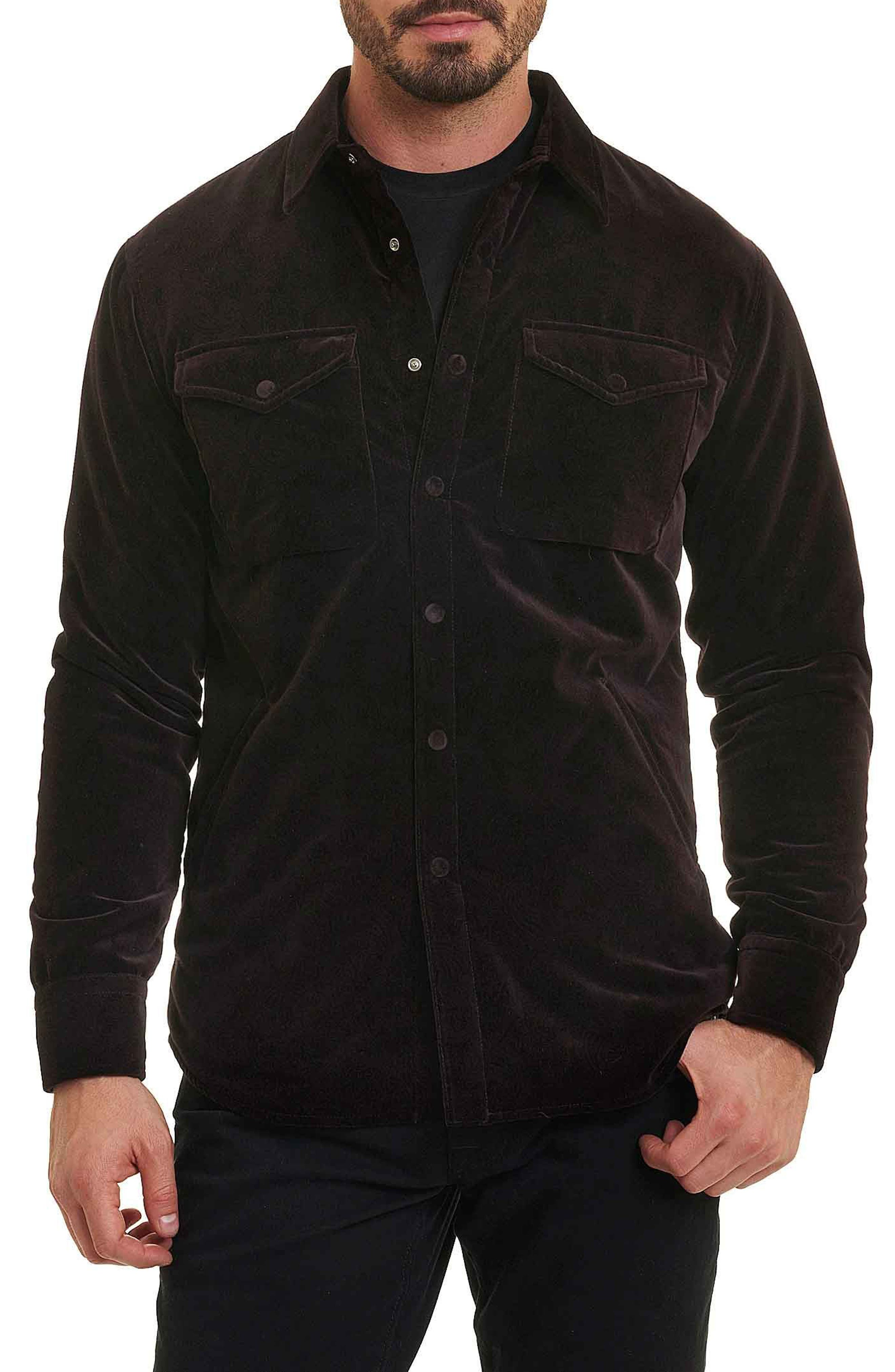 Carnaby Slim Fit Shirt Jacket,                         Main,                         color, EGGPLANT