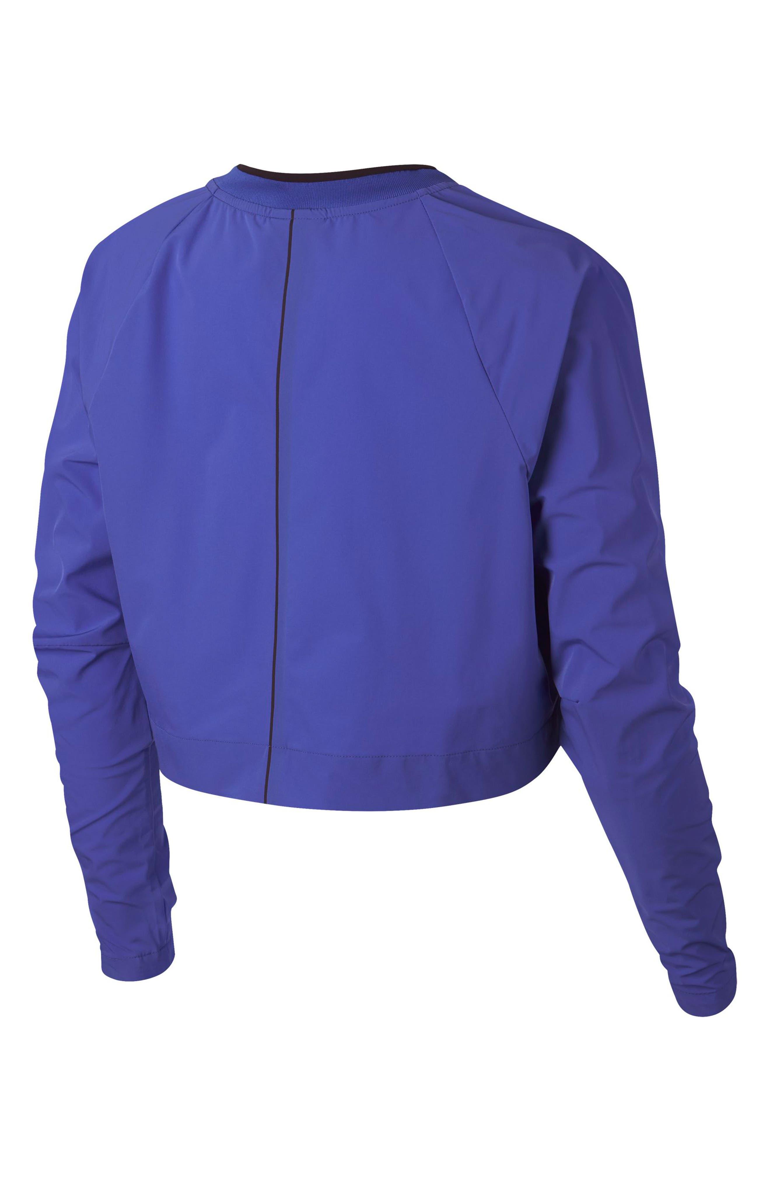 Sportswear Tech Pack Women's Long Sleeve Top,                             Alternate thumbnail 8, color,                             PERSIAN VIOLET/ BURGUNDY ASH