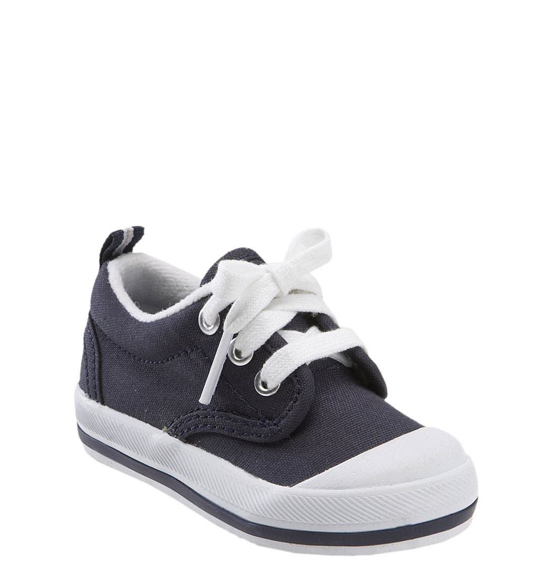 'Graham' Lace-Up Sneaker,                             Main thumbnail 1, color,                             NAVY CANVAS