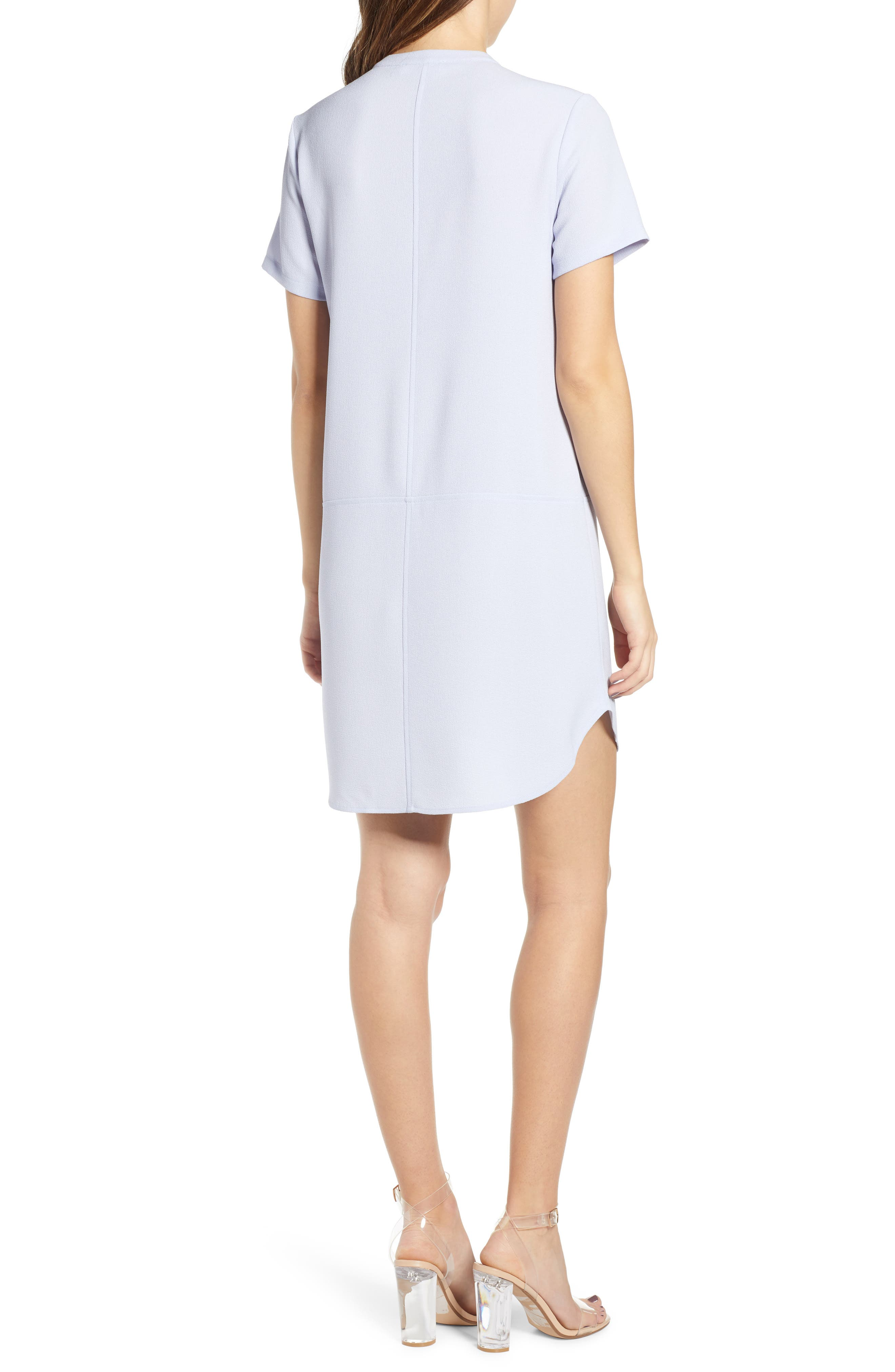 ALL IN FAVOR,                             Hailey Crepe Dress,                             Alternate thumbnail 2, color,                             HEATHER BLUE