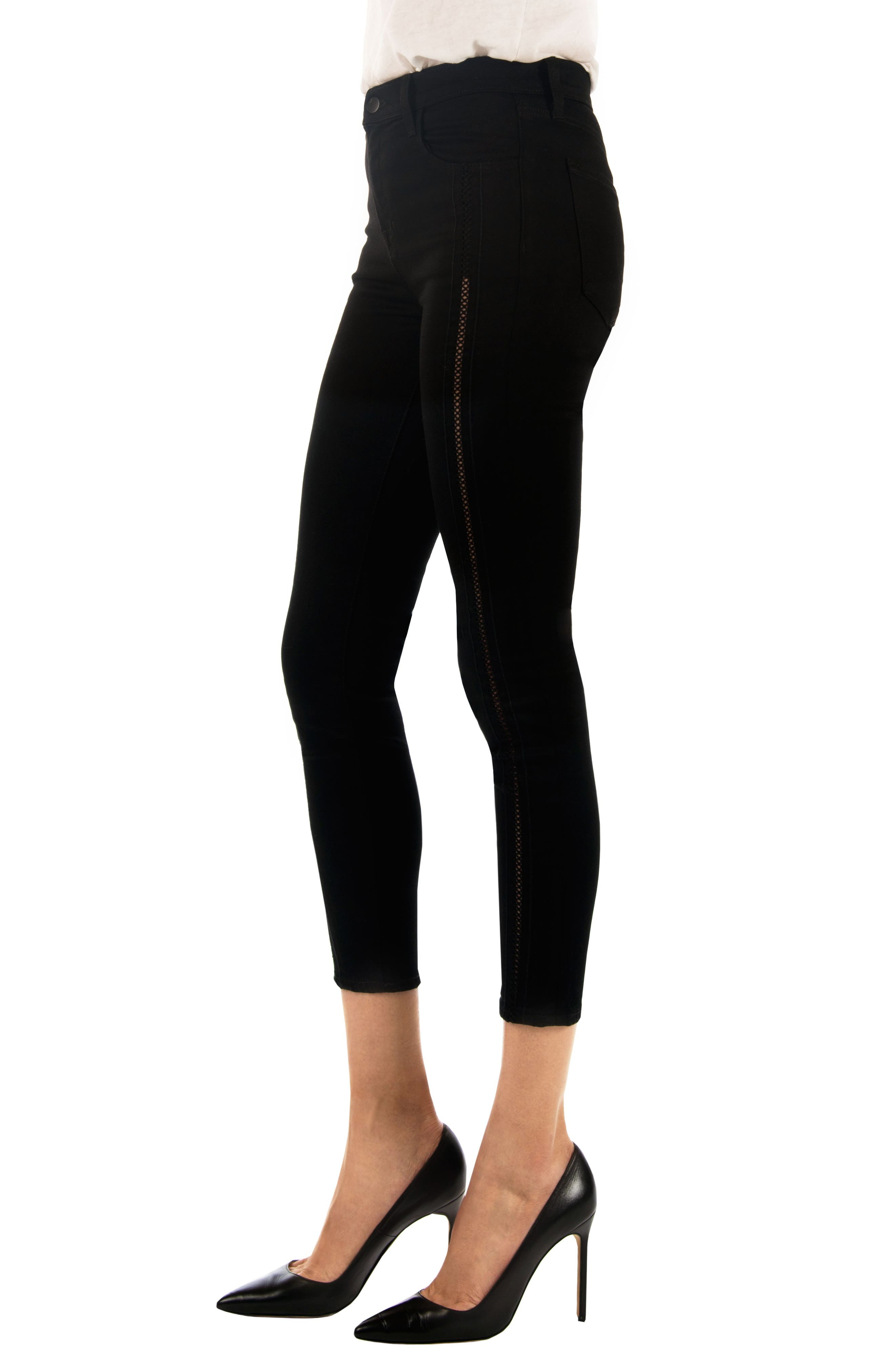 Alana High Waist Crop Skinny Jeans,                             Alternate thumbnail 3, color,                             009