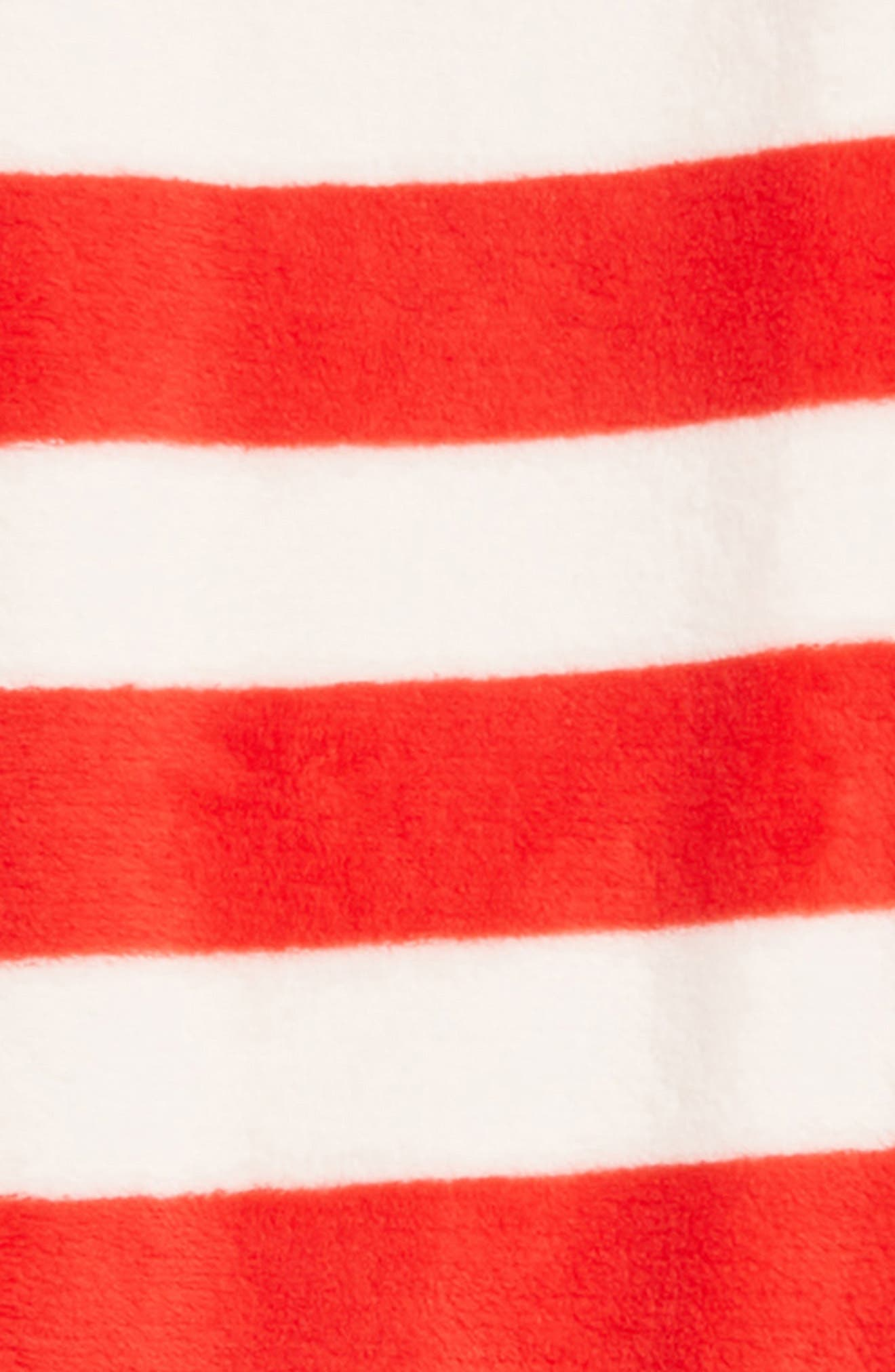 Fleece Pajama Pants,                             Alternate thumbnail 2, color,                             RED BLOOM- IVORY STRIPE
