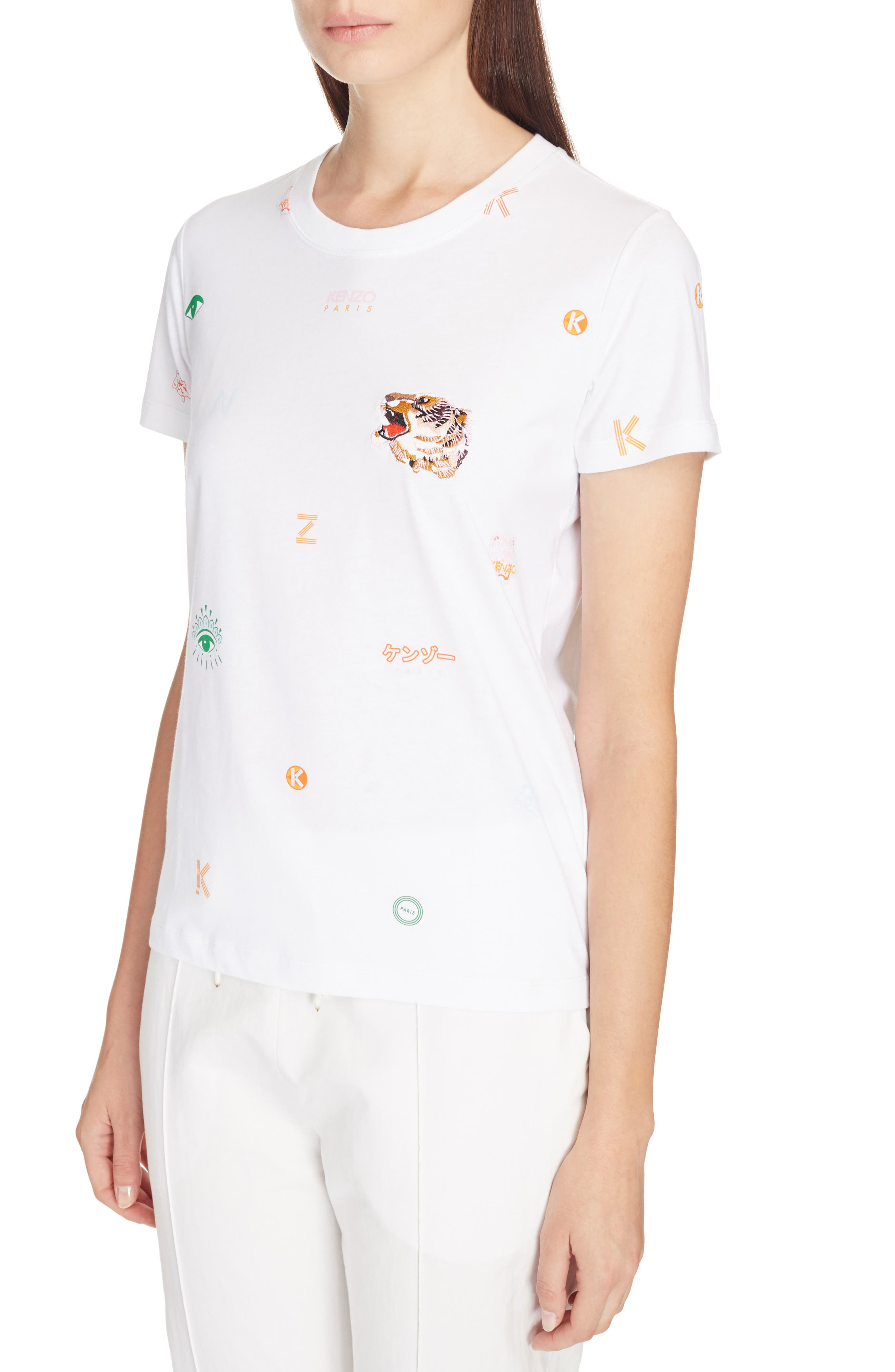 Multi Icons Graphic Tee,                             Alternate thumbnail 4, color,                             WHITE