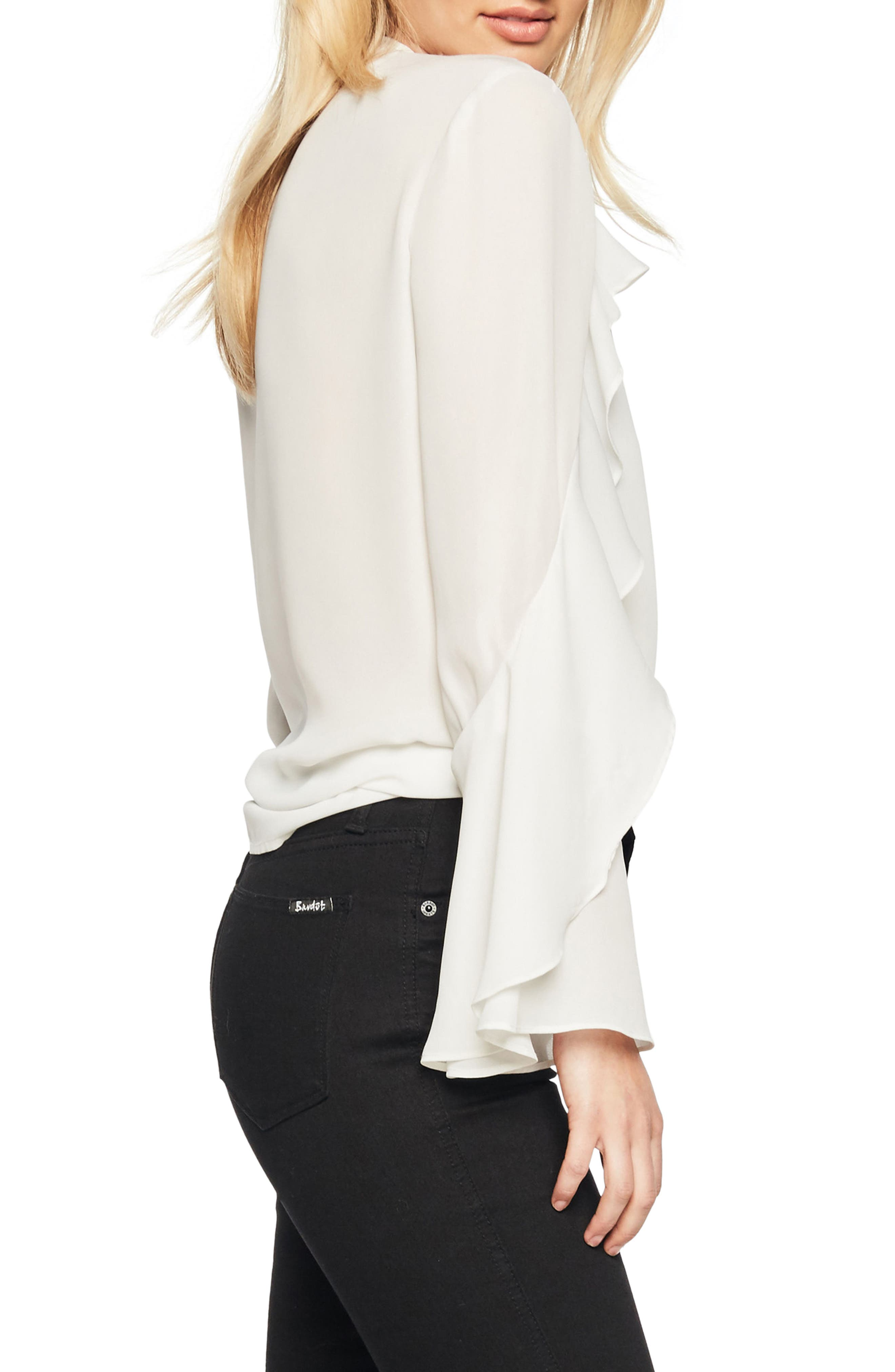 Bow Frill Top,                             Alternate thumbnail 3, color,