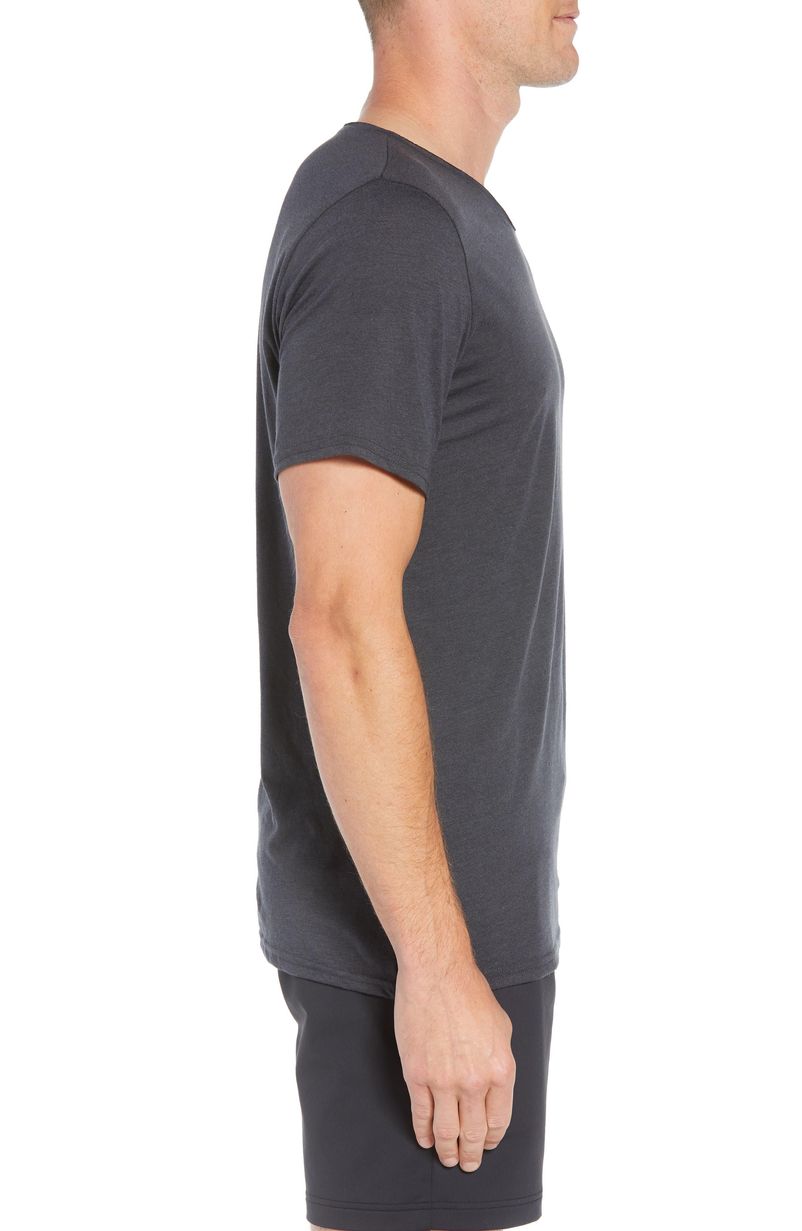 Ultimate T-Shirt,                             Alternate thumbnail 3, color,                             DARK GREY TRIBLEND