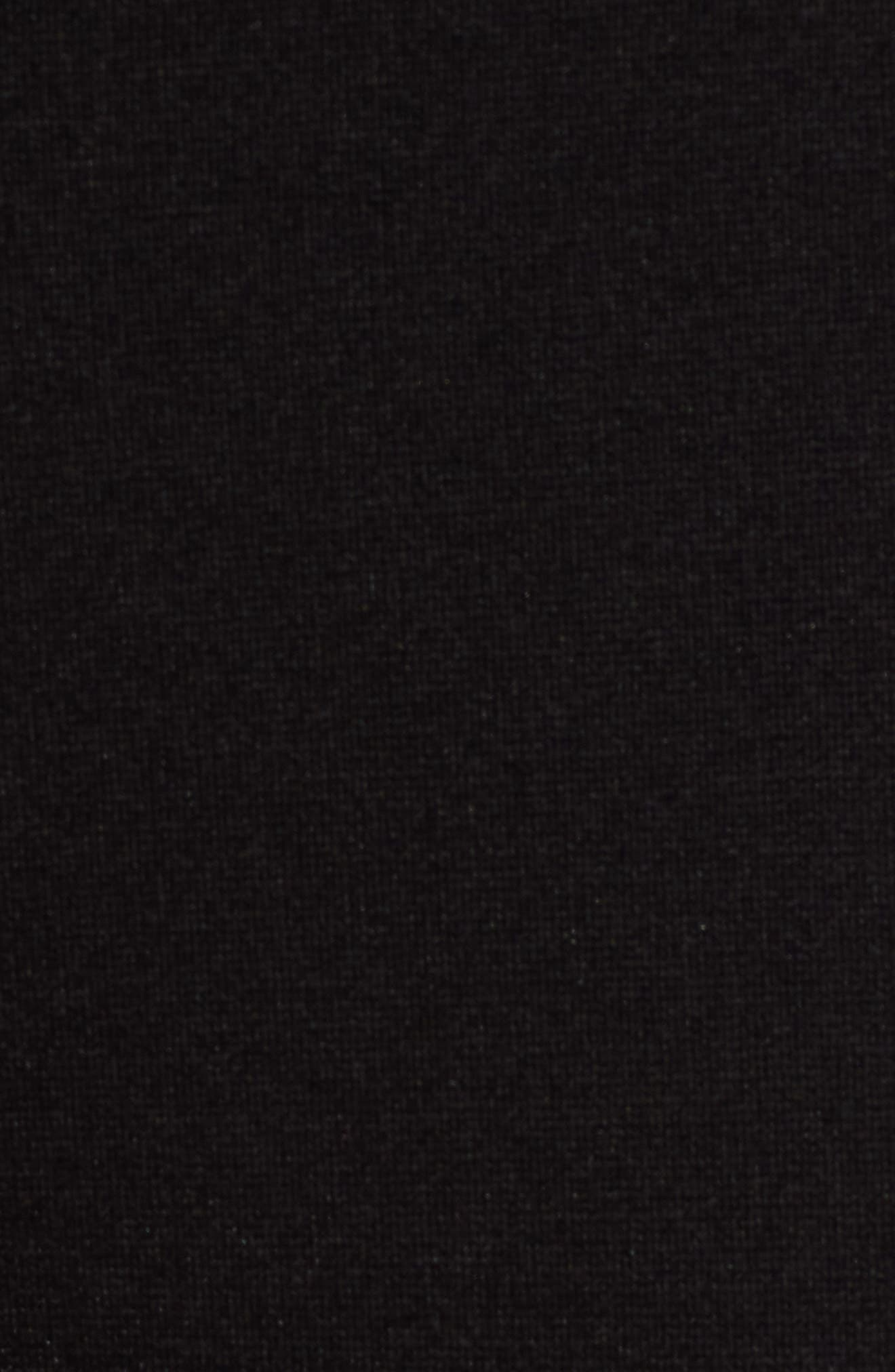 Seamed Ponte Knit Leggings,                             Alternate thumbnail 5, color,                             BLACK