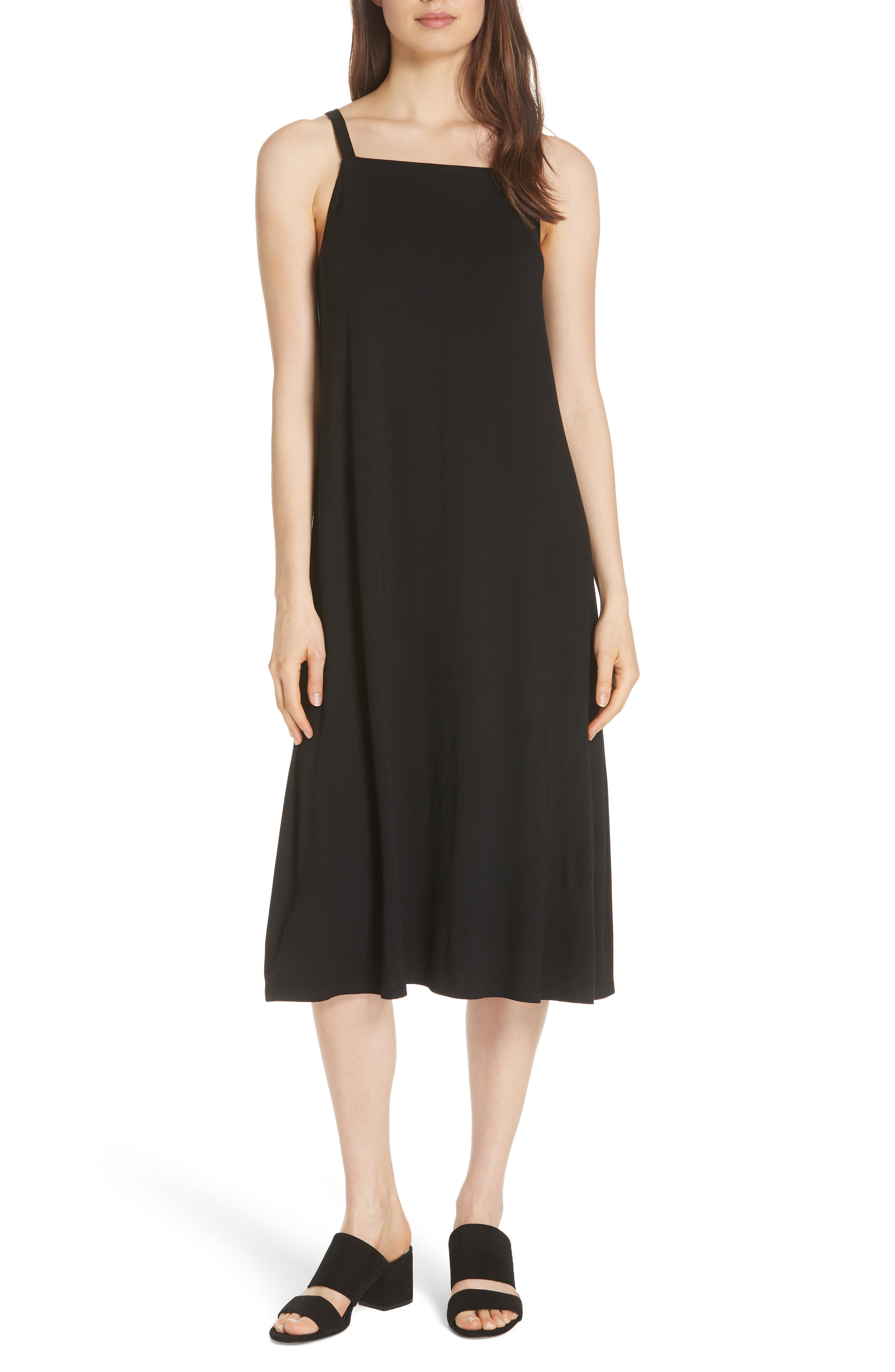 Cami Dress,                         Main,                         color, BLACK