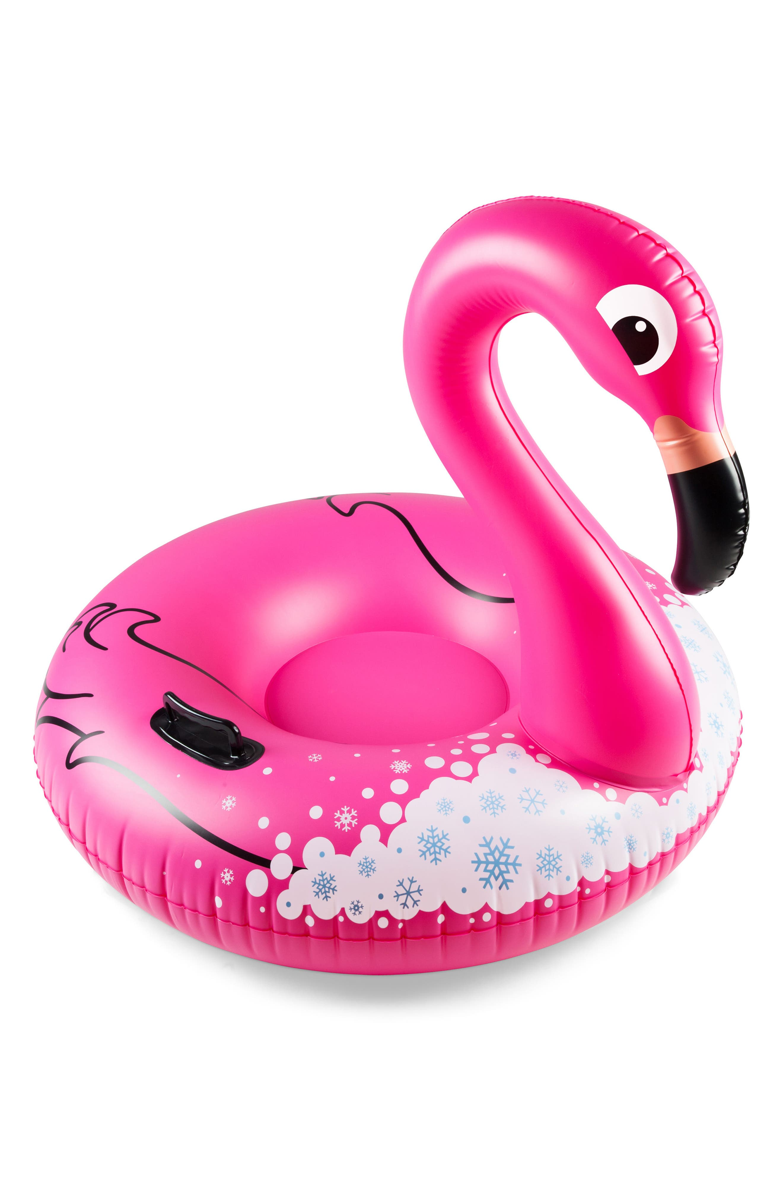 Winter Flamingo Inflatable Snow Tube,                             Alternate thumbnail 2, color,                             670