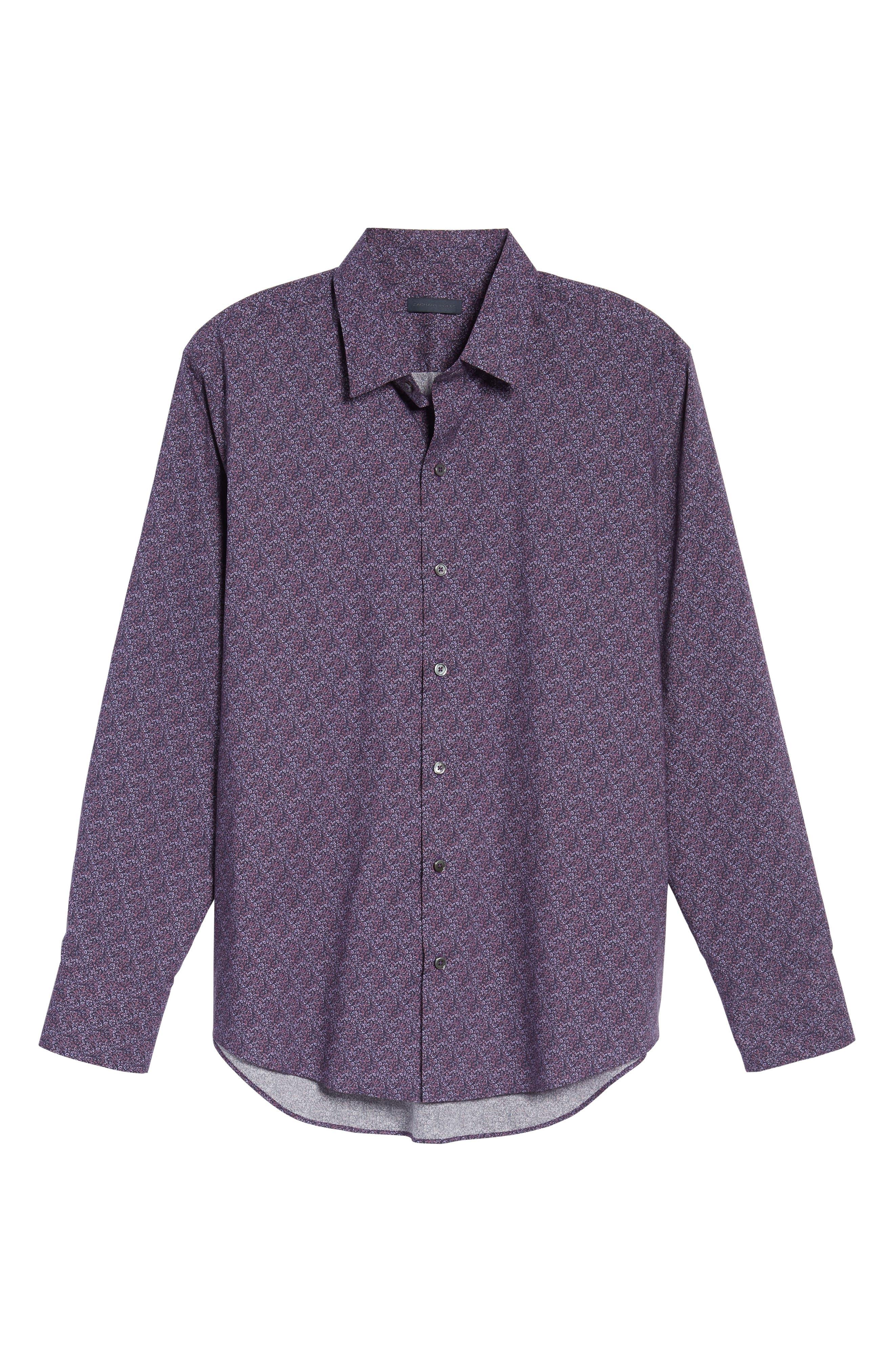 Cristobal Slim Fit Print Sport Shirt,                             Alternate thumbnail 6, color,                             500