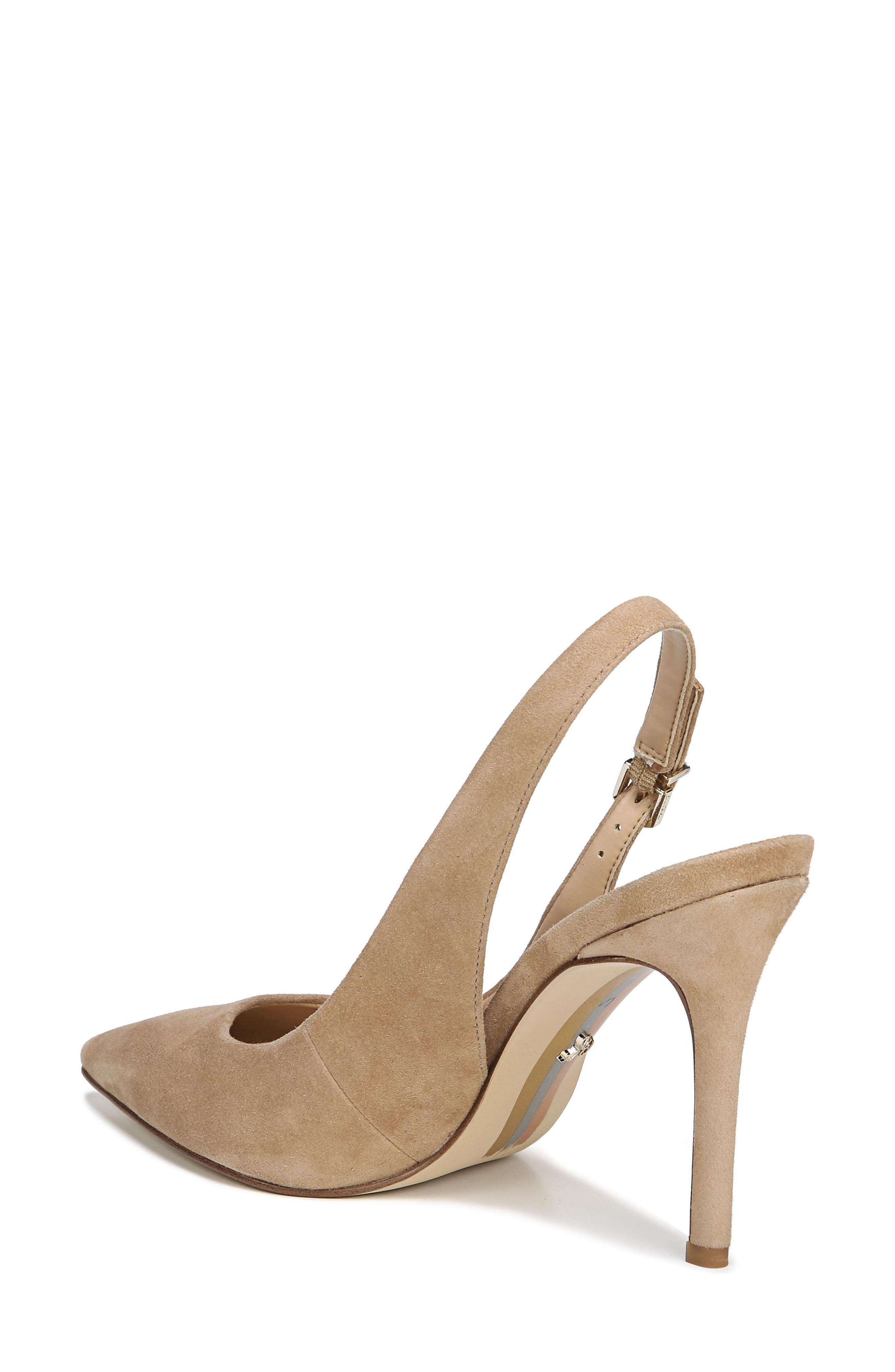 Hastings Slingback Pump,                             Alternate thumbnail 2, color,                             OATMEAL SUEDE LEATHER