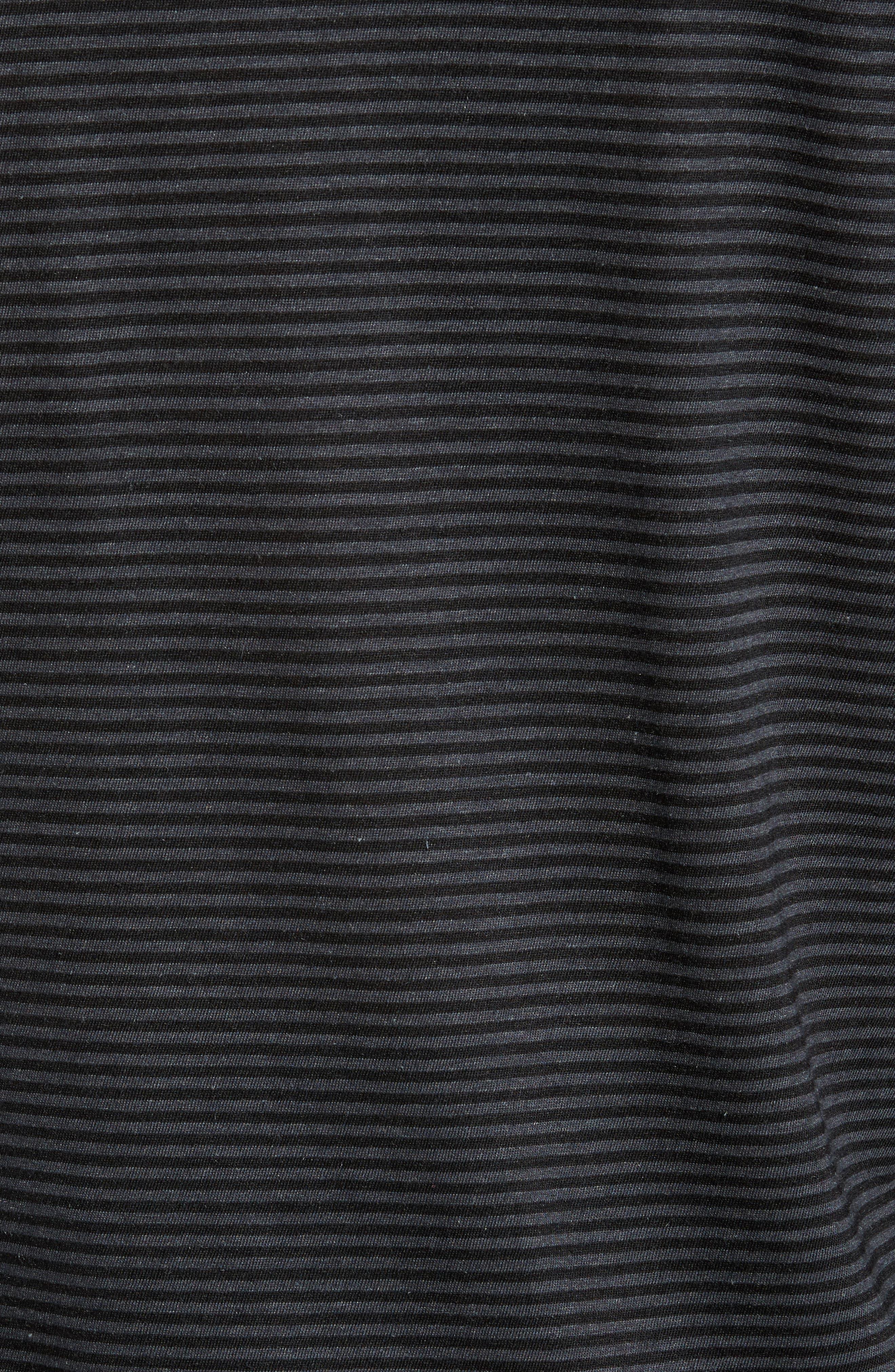 Stripe Long Sleeve T-Shirt,                             Alternate thumbnail 5, color,                             001