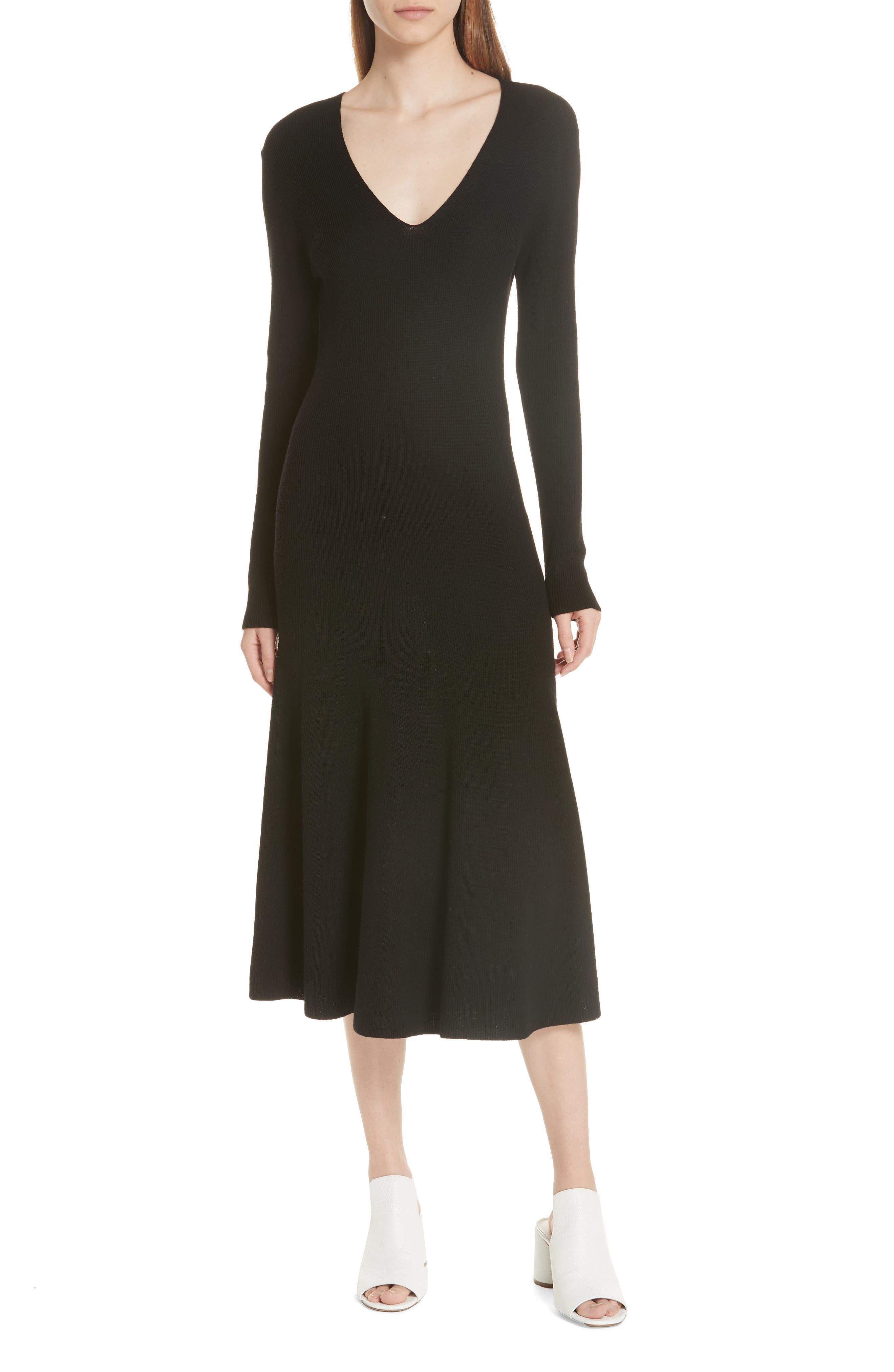 GREY JASON WU Wool Knit Dress in Black
