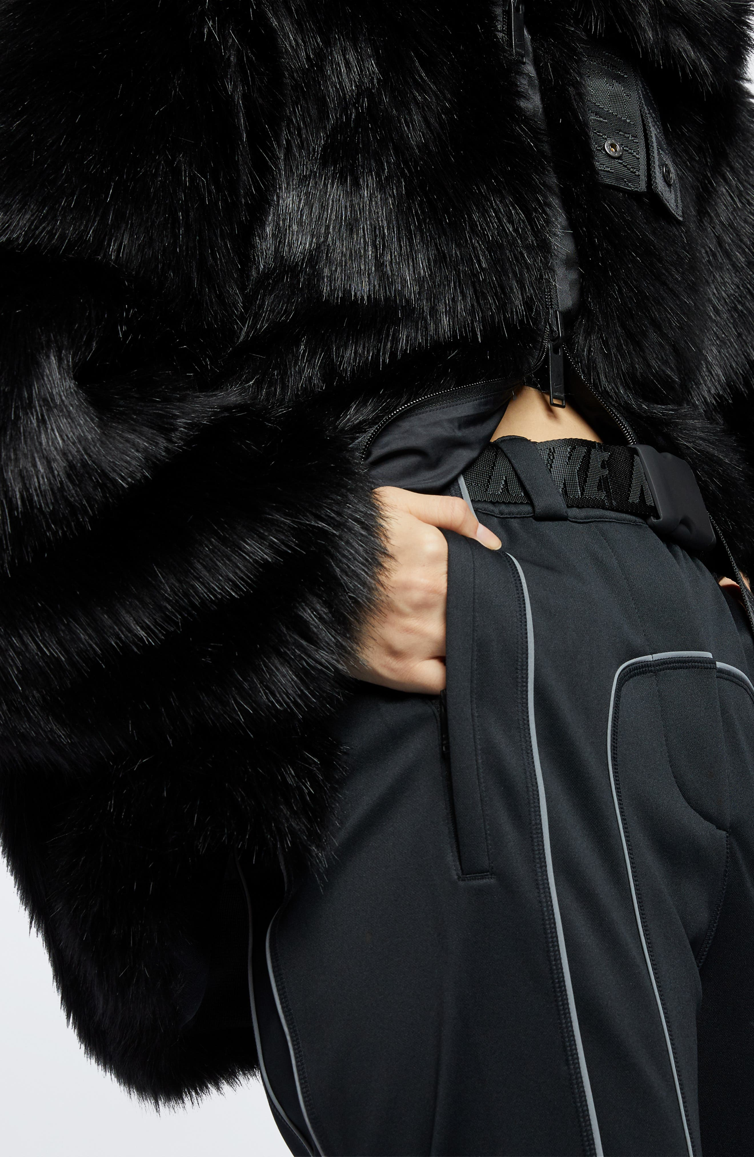 NIKE,                             x Ambush Women's Reversible Faux Fur Coat,                             Alternate thumbnail 9, color,                             010