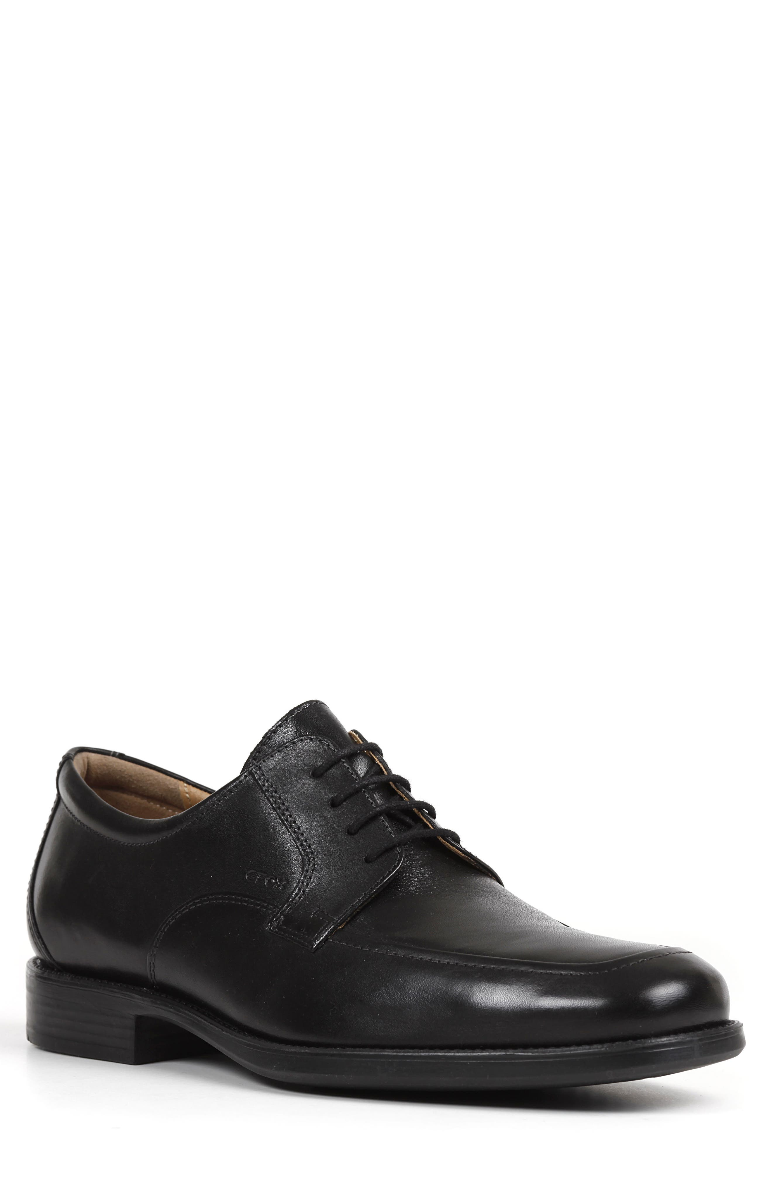 Federico 14 Plain Toe Derby,                             Main thumbnail 1, color,                             BLACK LEATHER