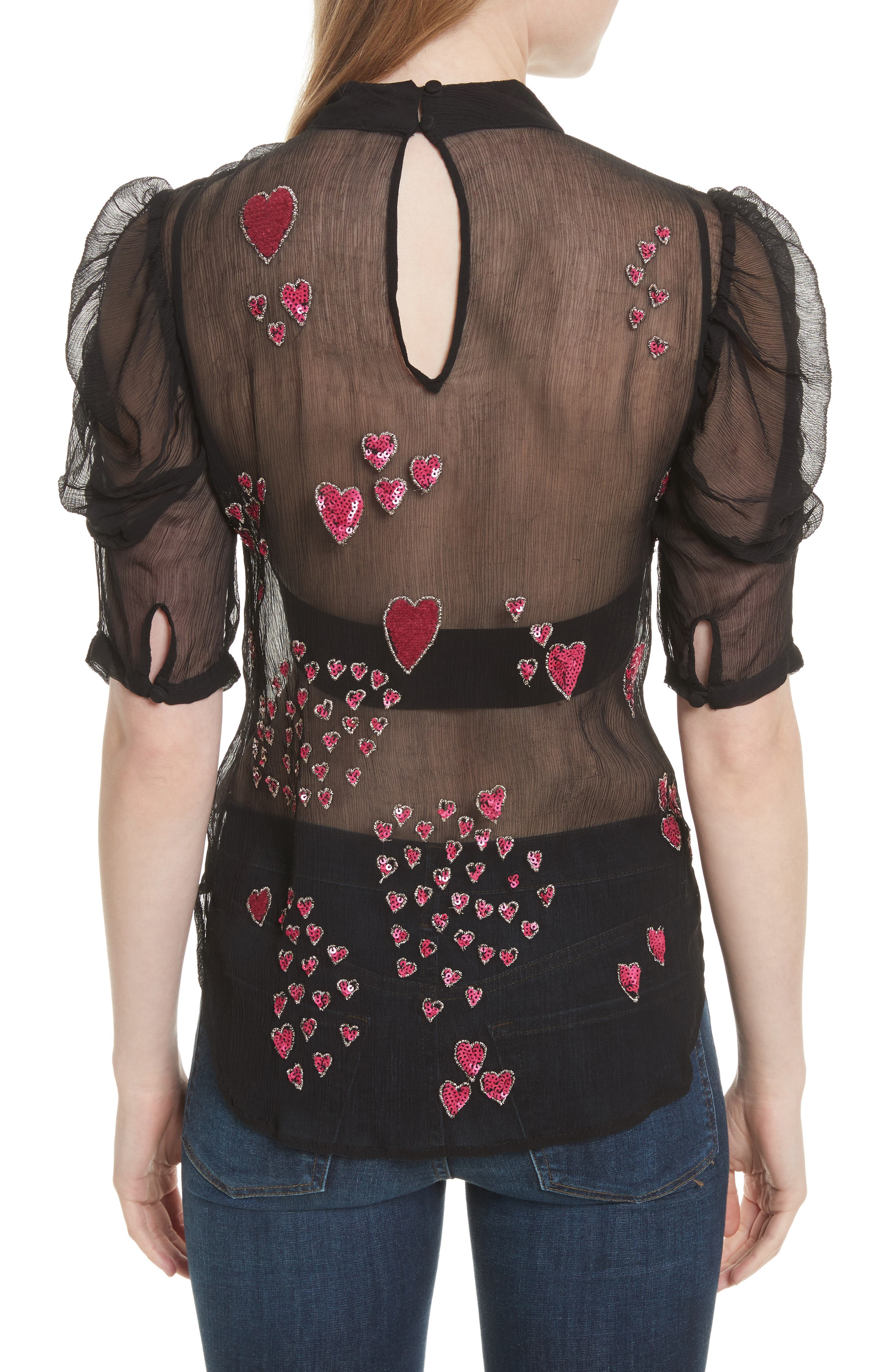 So in Love Embroidered Blouse,                             Alternate thumbnail 2, color,                             001