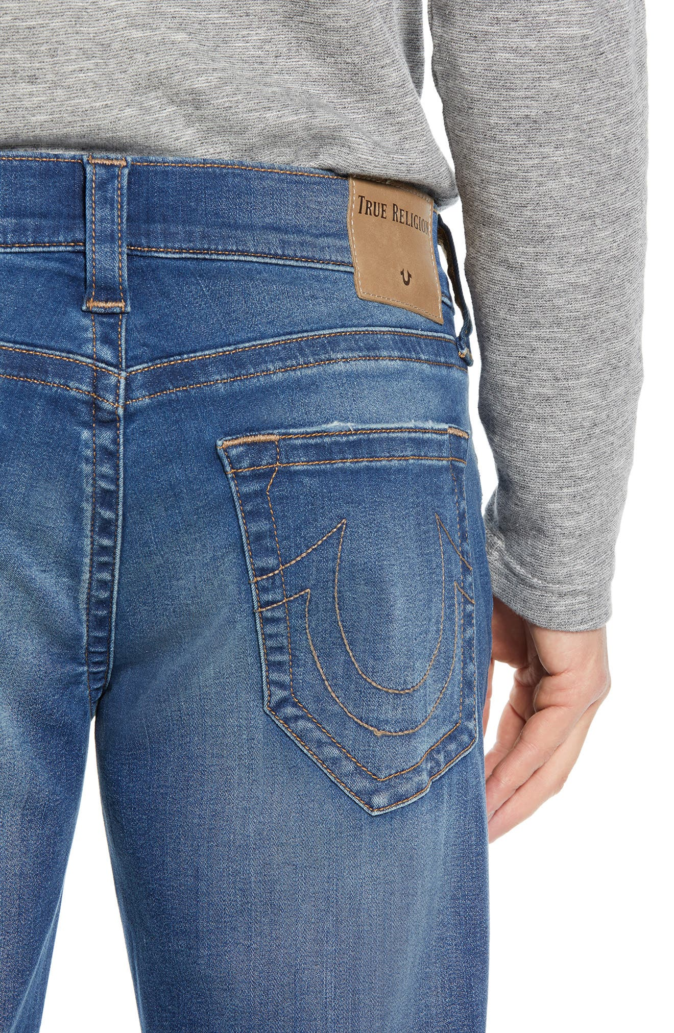Ricky Relaxed Fit Jeans,                             Alternate thumbnail 4, color,                             SUPERNOVA BLUES