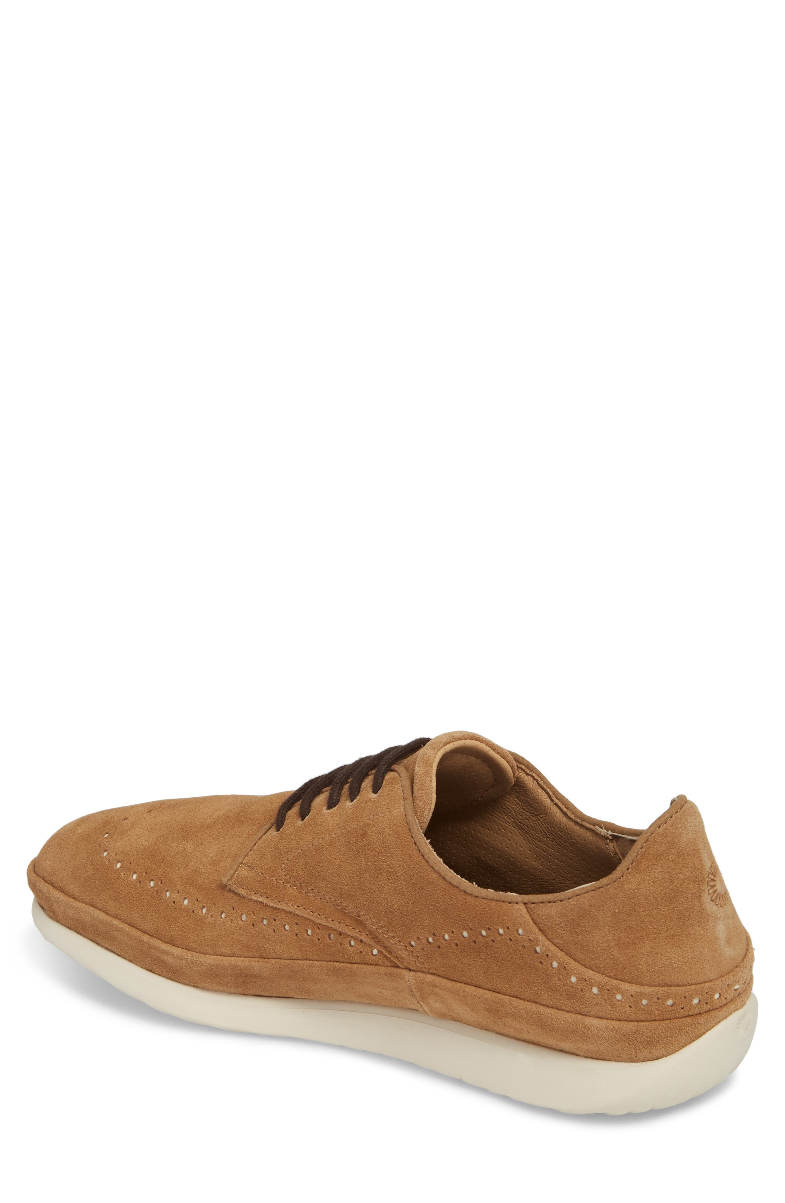 Cali Collapsible Wingtip Derby,                             Alternate thumbnail 2, color,                             CHESTNUT LEATHER