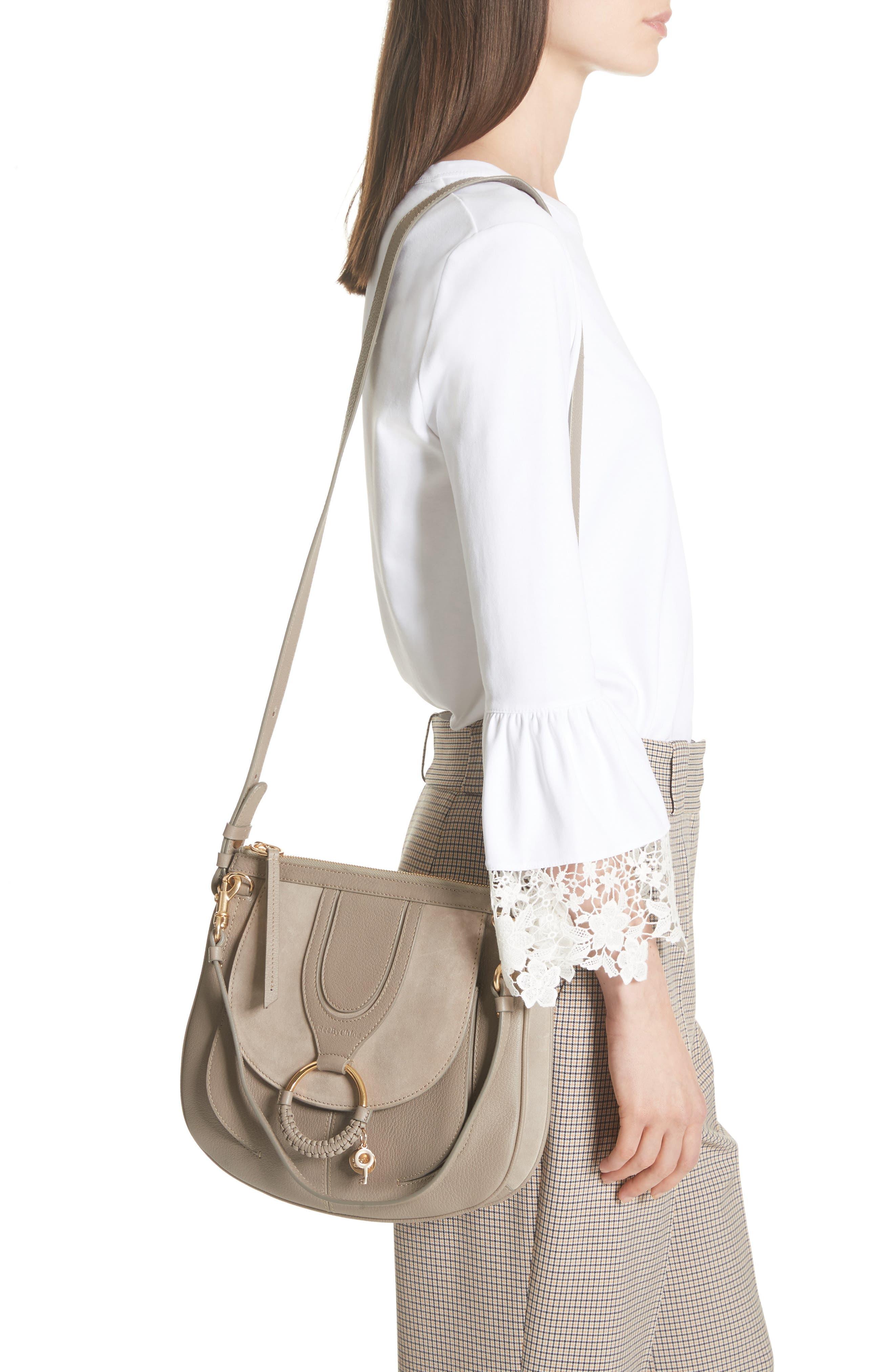 Hana Leather Shoulder Bag,                             Alternate thumbnail 4, color,
