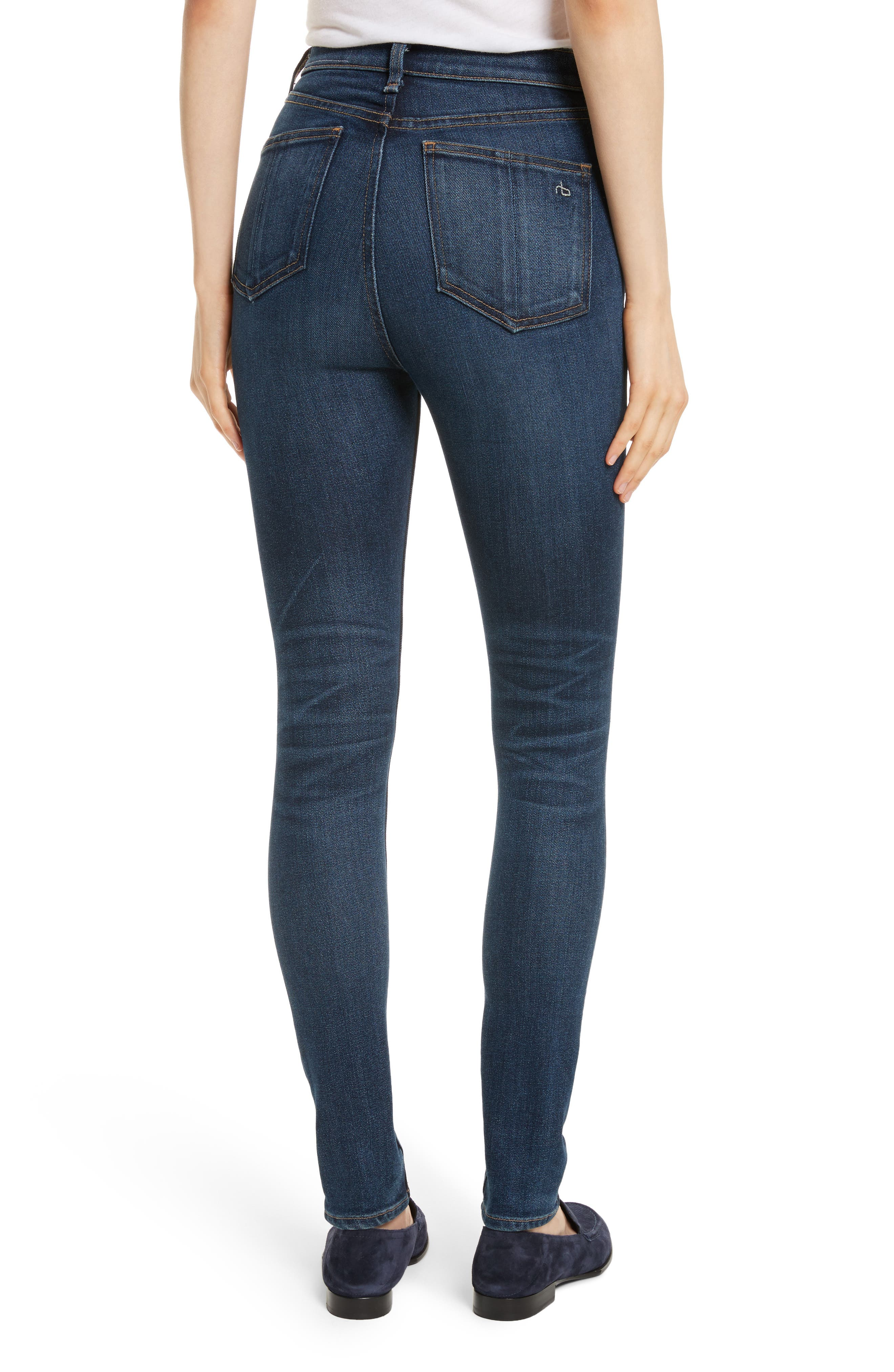 High Waist Skinny Jeans,                             Alternate thumbnail 2, color,                             404
