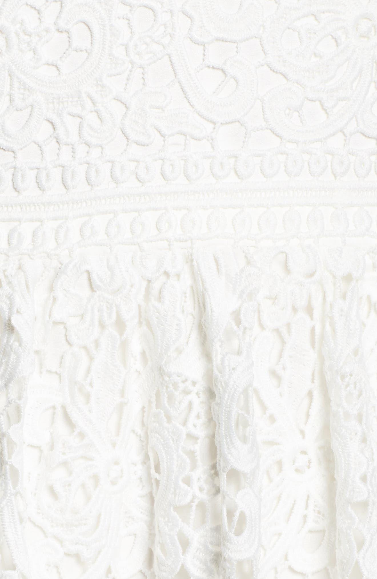Stripe Lace A-Line Gown,                             Alternate thumbnail 5, color,