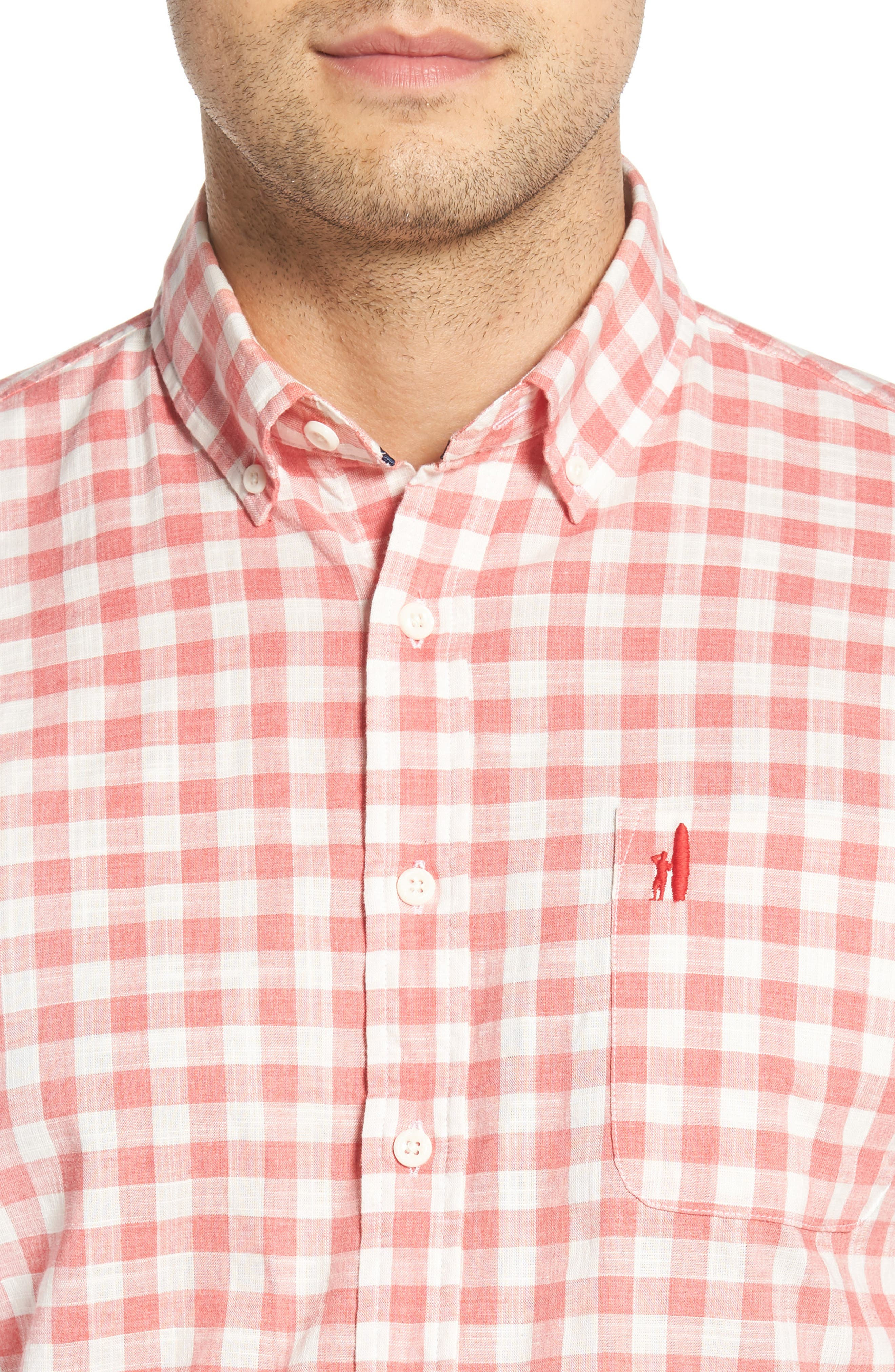 Watts Regular Fit Sport Shirt,                             Alternate thumbnail 4, color,                             CALYPSO