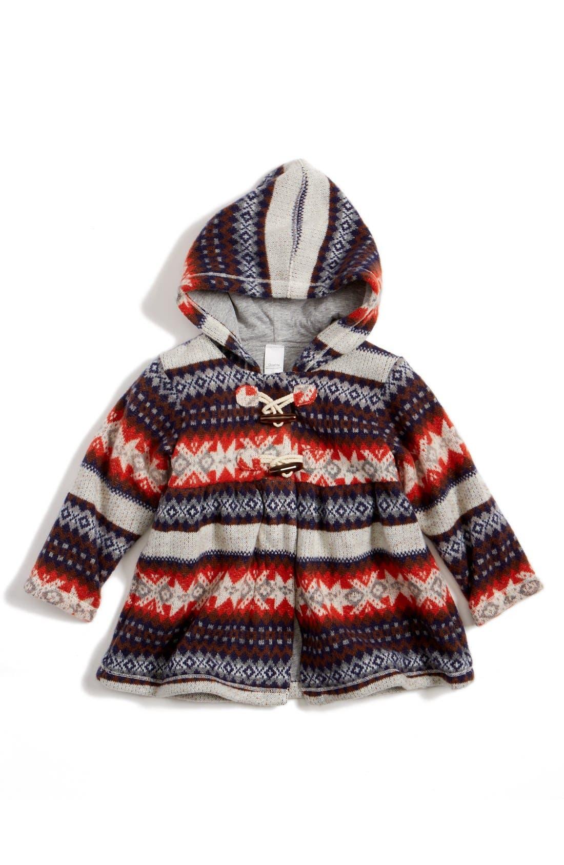 Fair Isle Hooded Jacket,                         Main,                         color, 630