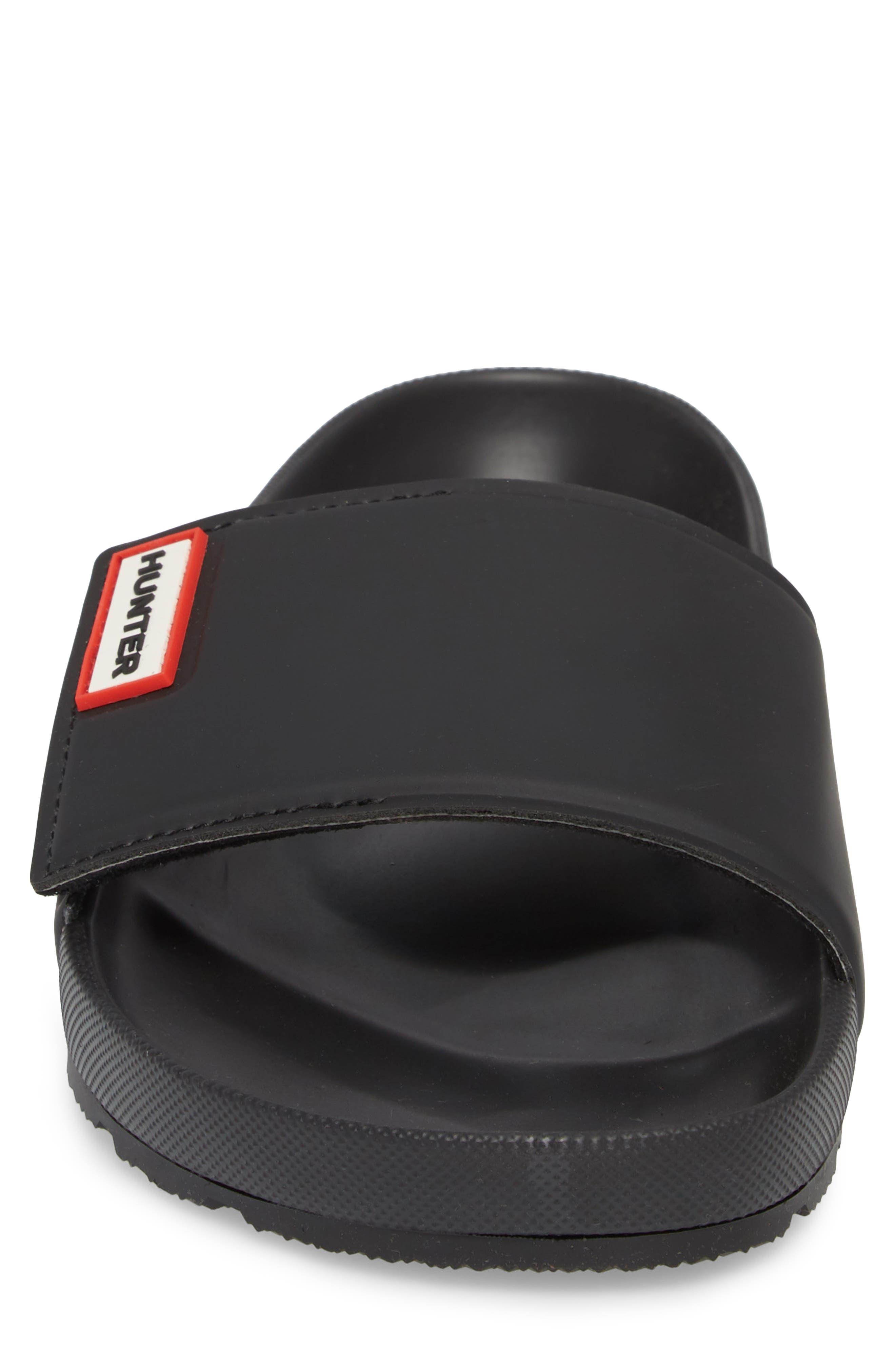 Original Adjustable Slide Sandal,                             Alternate thumbnail 4, color,                             BLACK