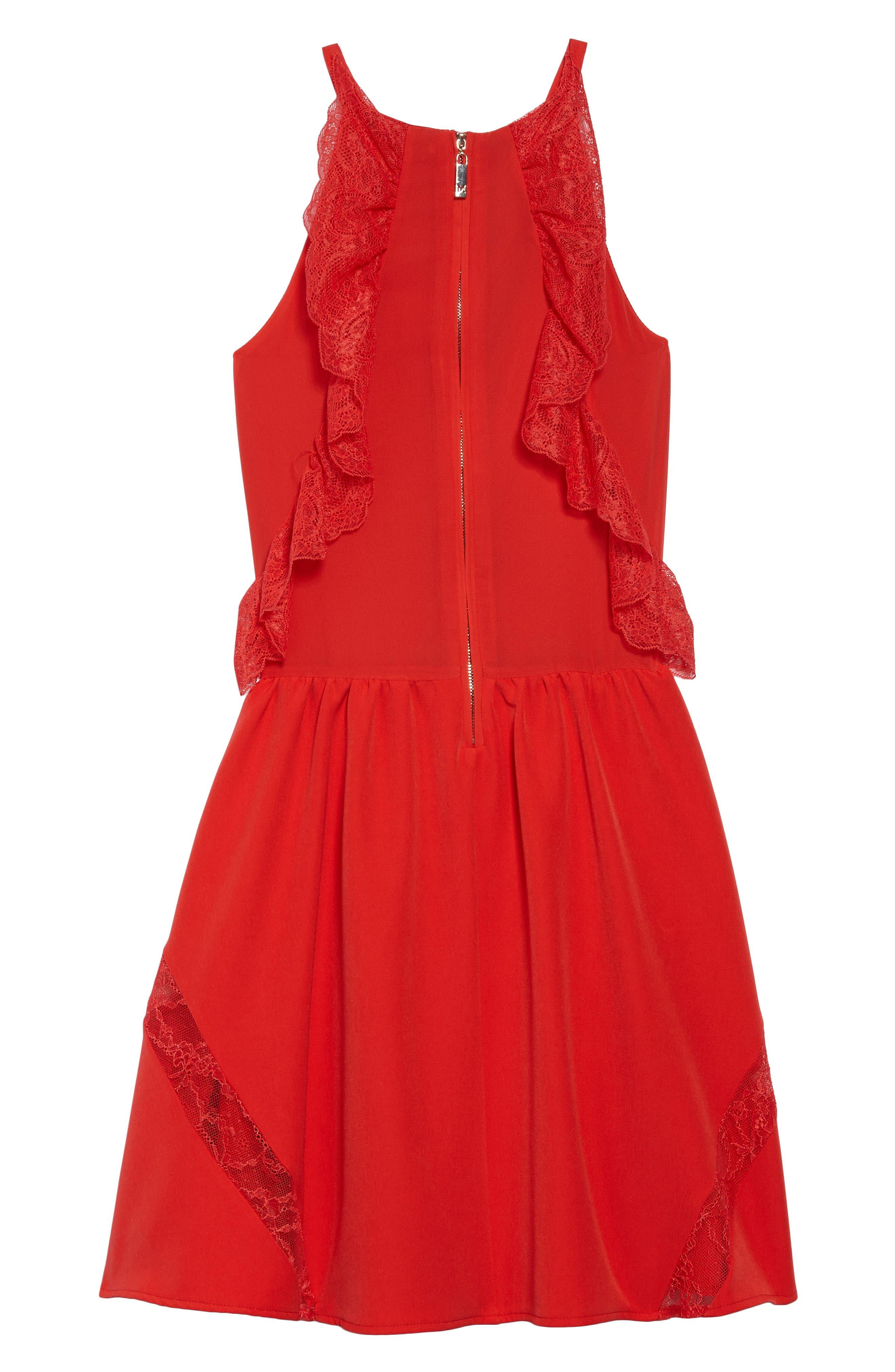 Lace Trimmed Halter Dress,                             Alternate thumbnail 2, color,                             600