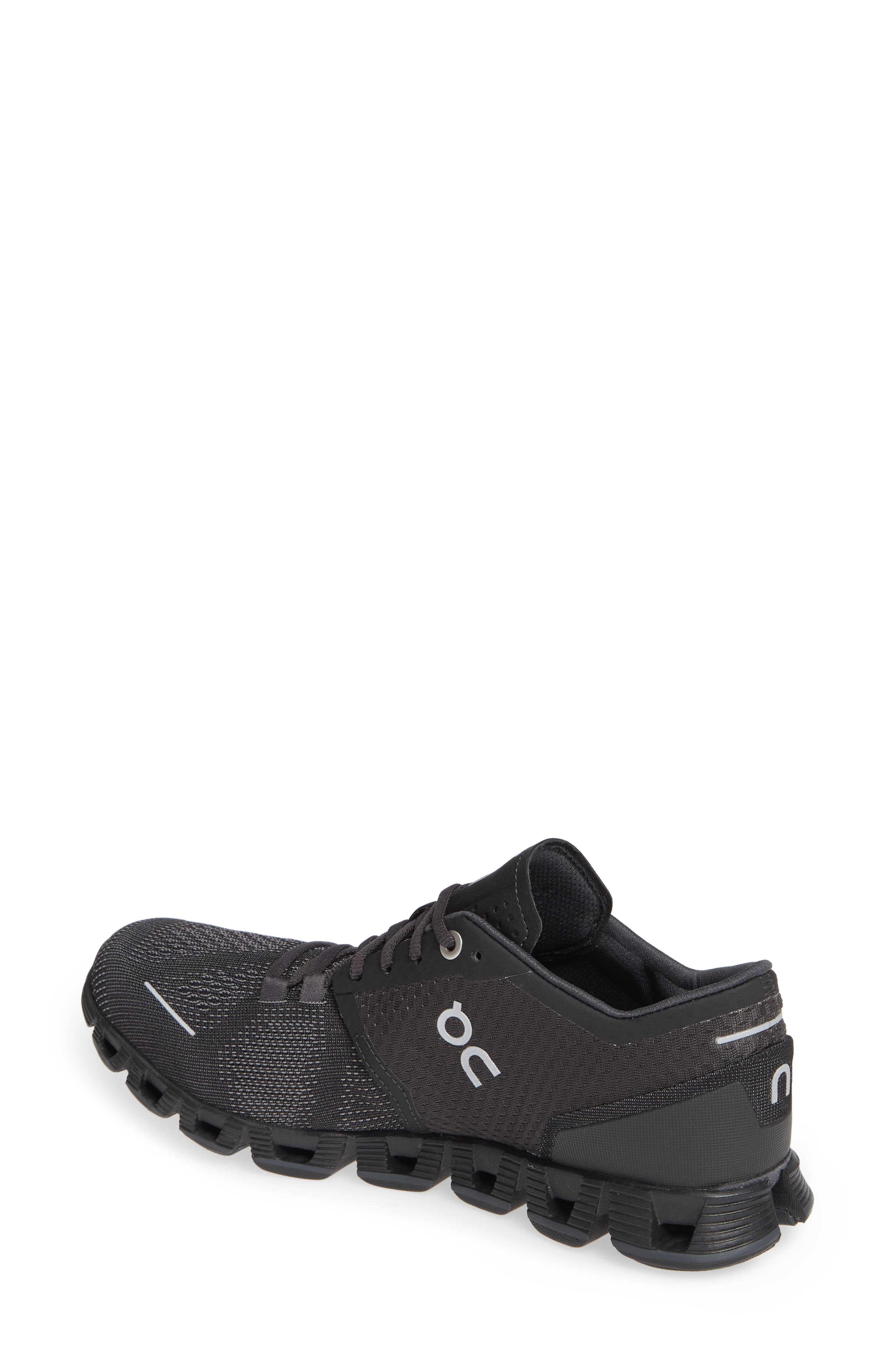 Cloud X Running Shoe,                             Alternate thumbnail 2, color,                             BLACK/ ASPHALT