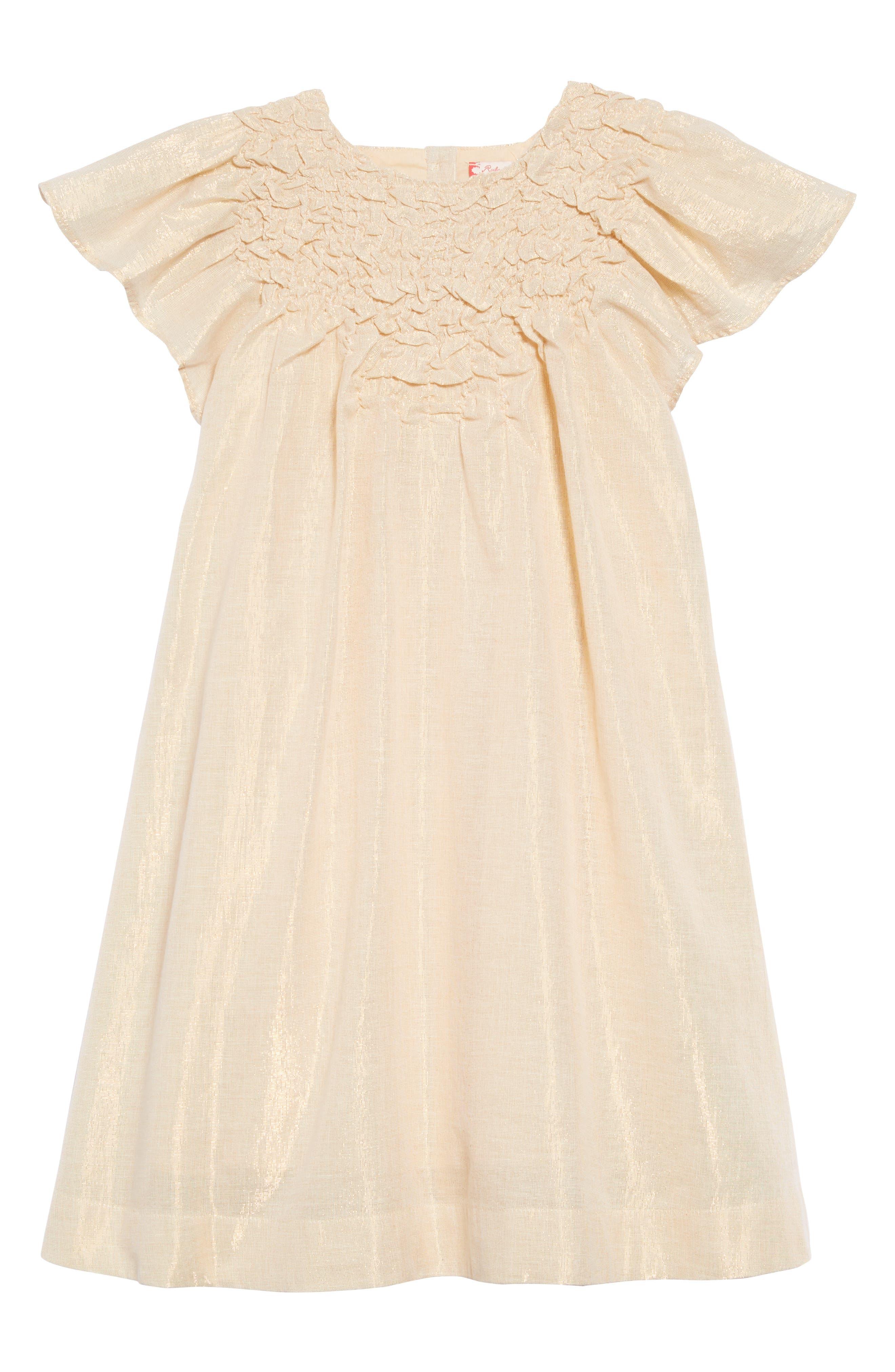 Rosie Sparkle Dress,                         Main,                         color, METALLIC GOLD