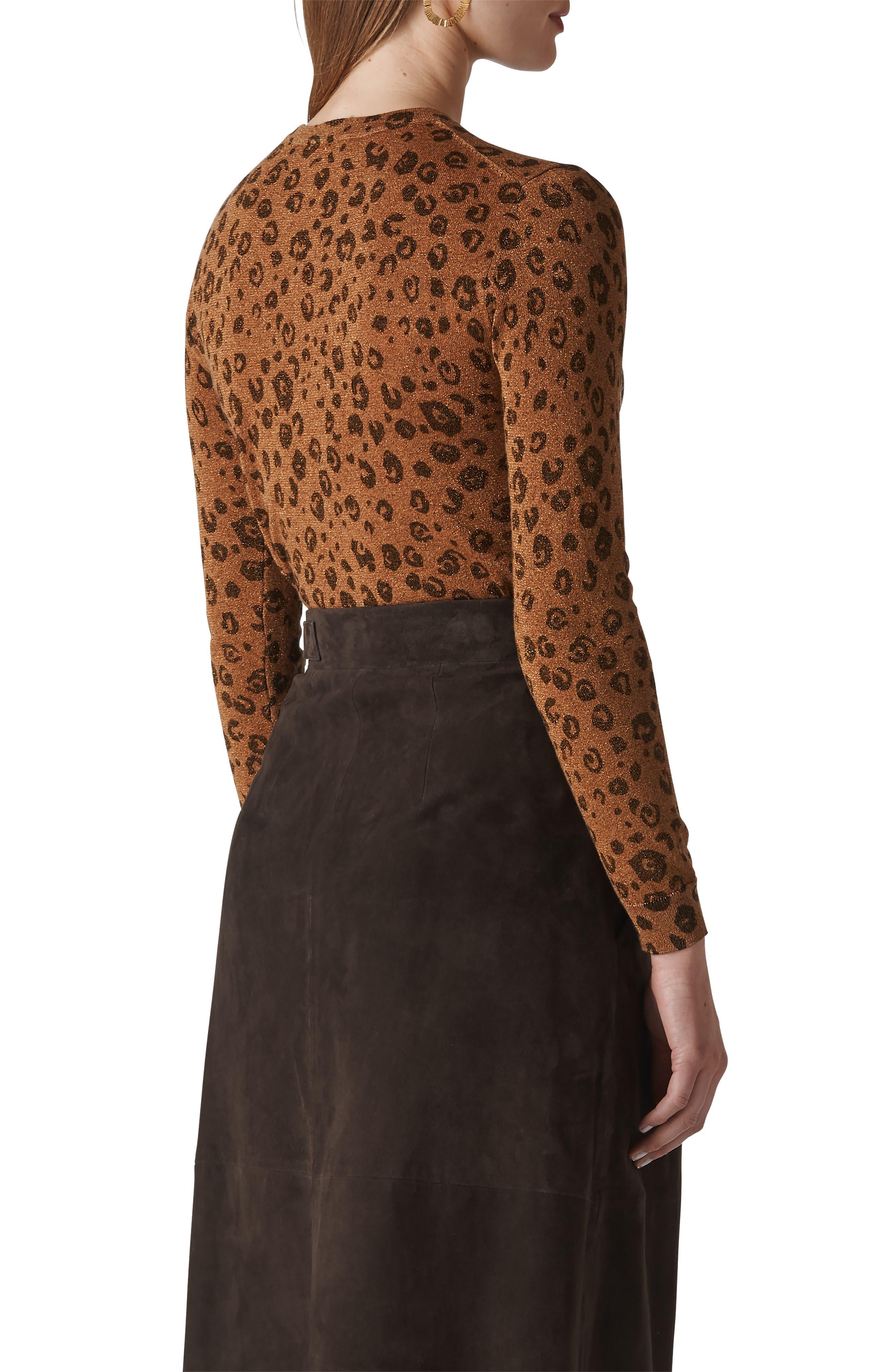 Cheetah Sparkle Sweater,                             Alternate thumbnail 2, color,                             MULTICOLOUR
