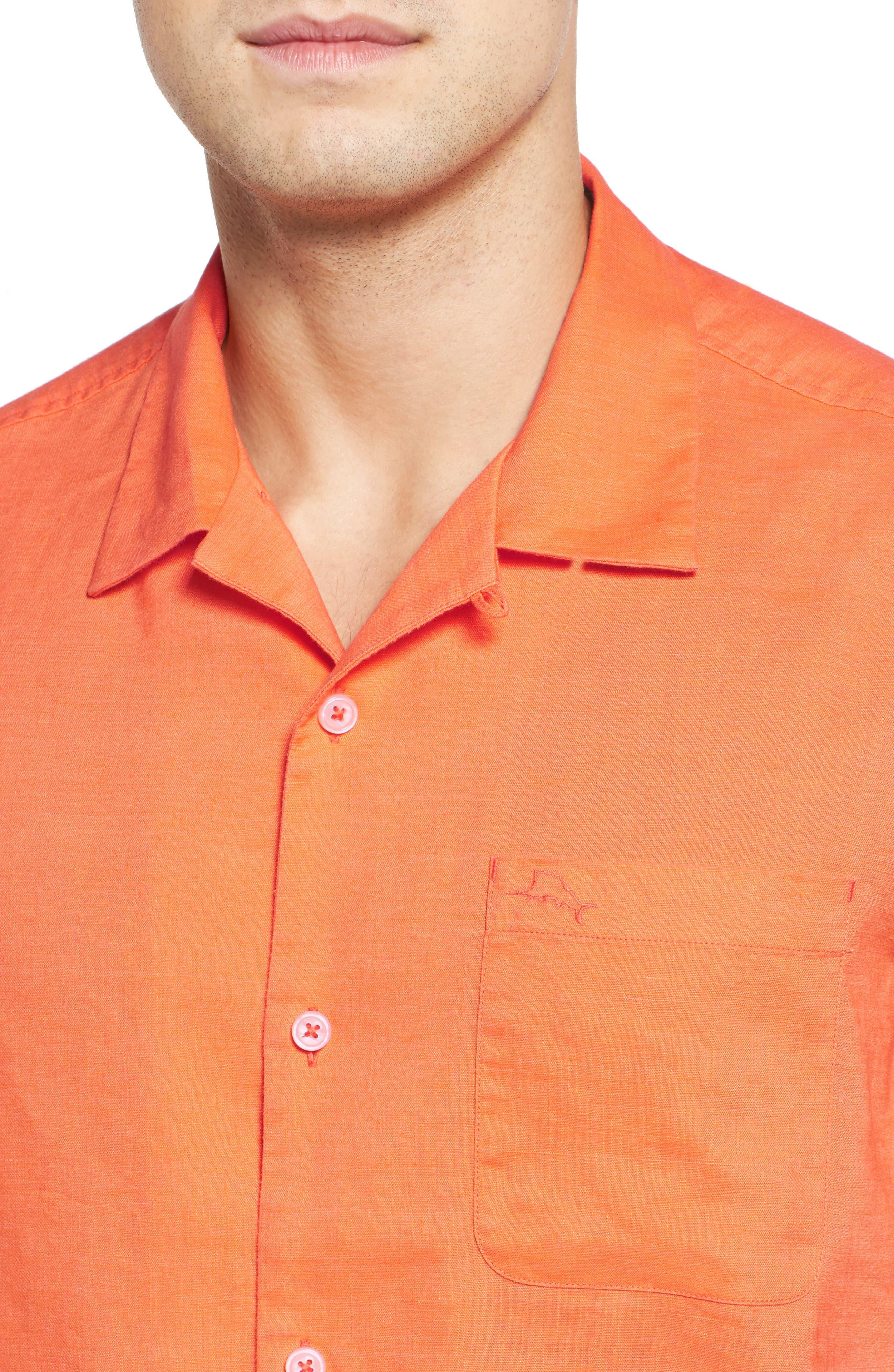 Monaco Tides Standard Fit Linen Blend Camp Shirt,                             Alternate thumbnail 24, color,